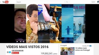 167039358ba Estes foram os vídeos mais vistos no YouTube em 2016 – Observador