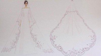 fa4a418c2 Os esboços dos vestidos de noiva de Meghan Markle e o que Harry disse à  designer