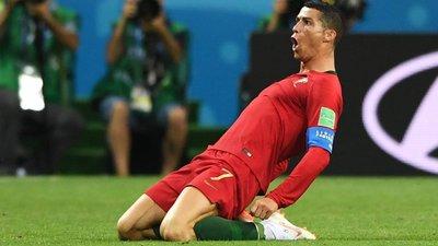 Cristiano Ronaldo estreou-se esta sexta-feira a marcar à seleção espanhola.  Getty Images bd25a00f7ee7f