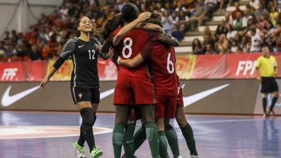 7091d058cd Portugal fecha apuramento para o Europeu de futsal feminino com goleada