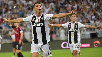 4a4fa5e1a2 O primeiro título de Ronaldo em Itália  Juventus vence AC Milan na  Supertaça com golo do português