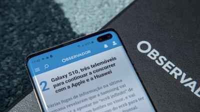 64968f9aa01 O Samsung Galaxy S10+ está disponível desde 8 de março, em Preto, Branco,  Azul, Verde e em Preto ou Branco Cerâmico (mais resistente).