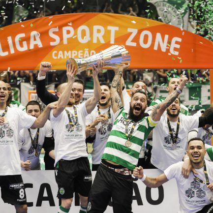 34563a2912 Sporting sagra-se tricampeão nacional de futsal ao vencer o Benfica na   negra  nas grandes penalidades – Observador
