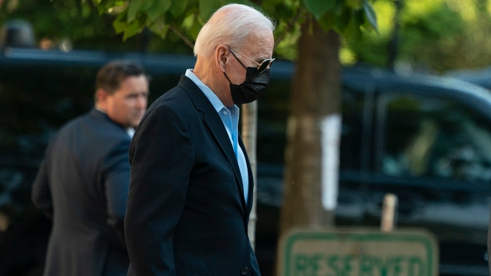 epa09250347 US President Joe Biden departs from Holy Trinity Catholic Church, in Washington, DC, USA, 05 June 2021  EPA/Chris Kleponis / POOL