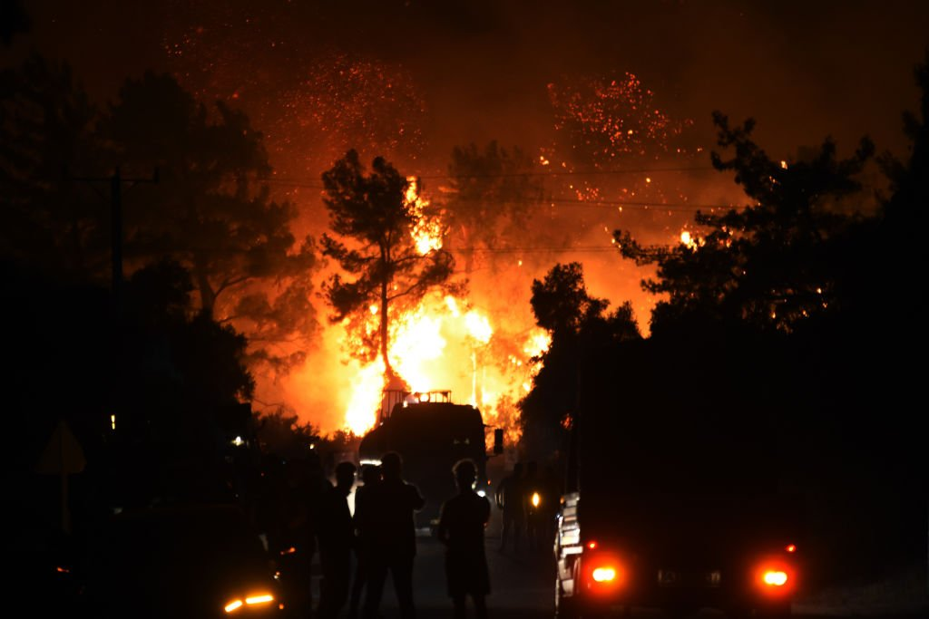 Forest fires in Mugla