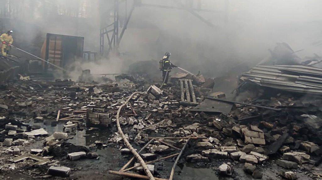 Fire hits gunpowder factory in Ryazan Region, Russia
