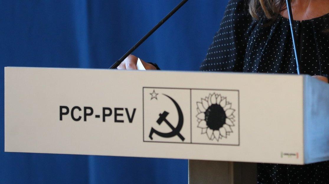 Diana Ferreira, primeira candidata da CDU às eleições legislativas pelo círculo eleitoral do Porto participa na sessão pública 'Avançar é preciso! Mais força à CDU' , Teatro Rivoli, Porto, 21 de junho de 2019. JOSÉ COELHO/LUSA