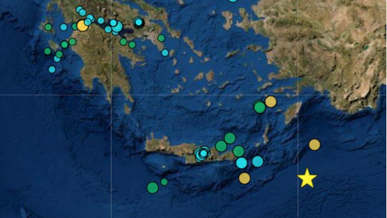 Sismos registados na Grécia