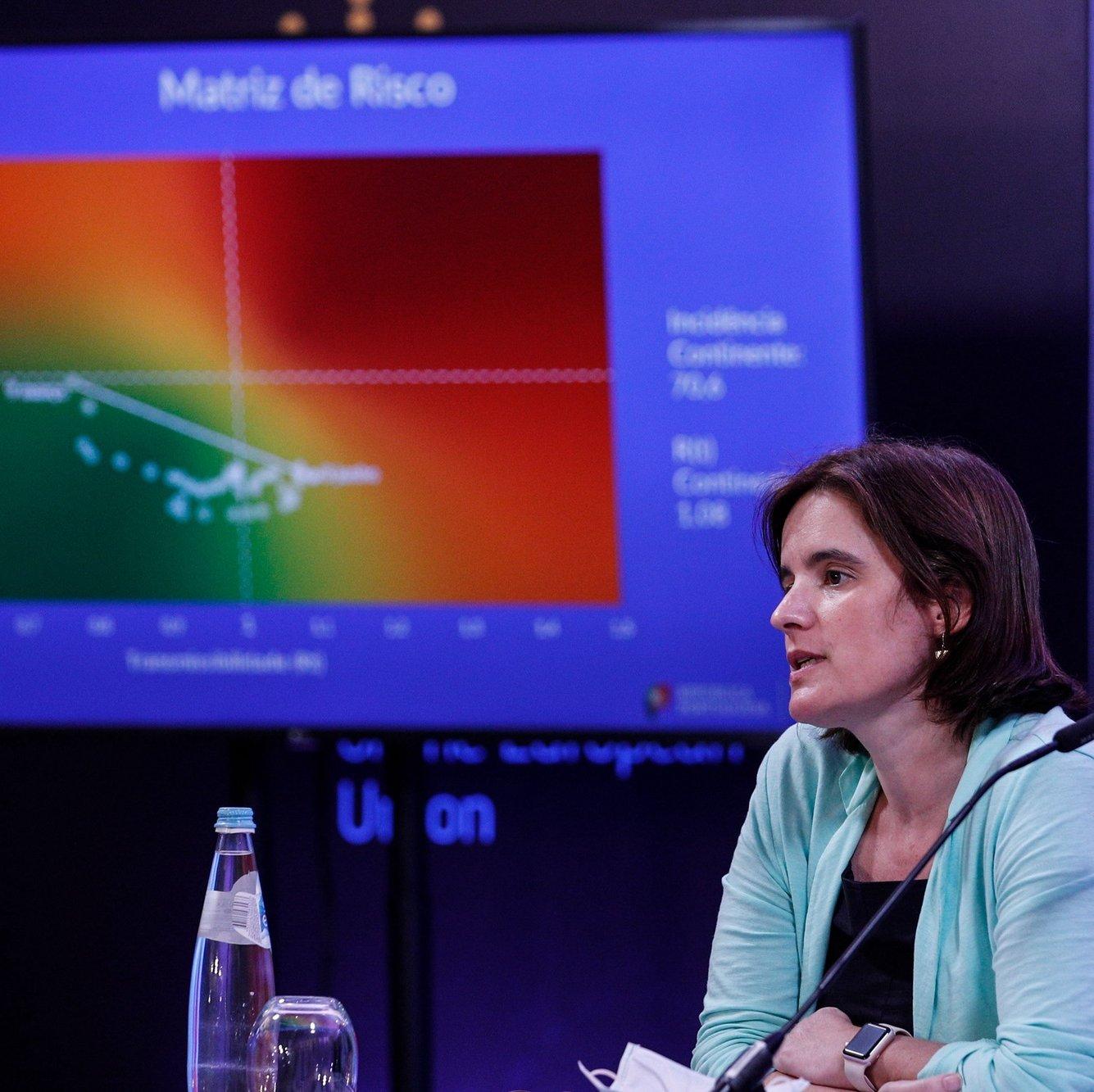 A ministra da Presidência e da Modernização Administrativa, Mariana Vieira da Silva, intervém durante a conferência de imprensa no final da reunião do Conselho de Ministros, que decorreu no Centro Cultural de Belém, em Lisboa, 09 de junho de 2021. ANTÓNIO COTRIM/LUSA