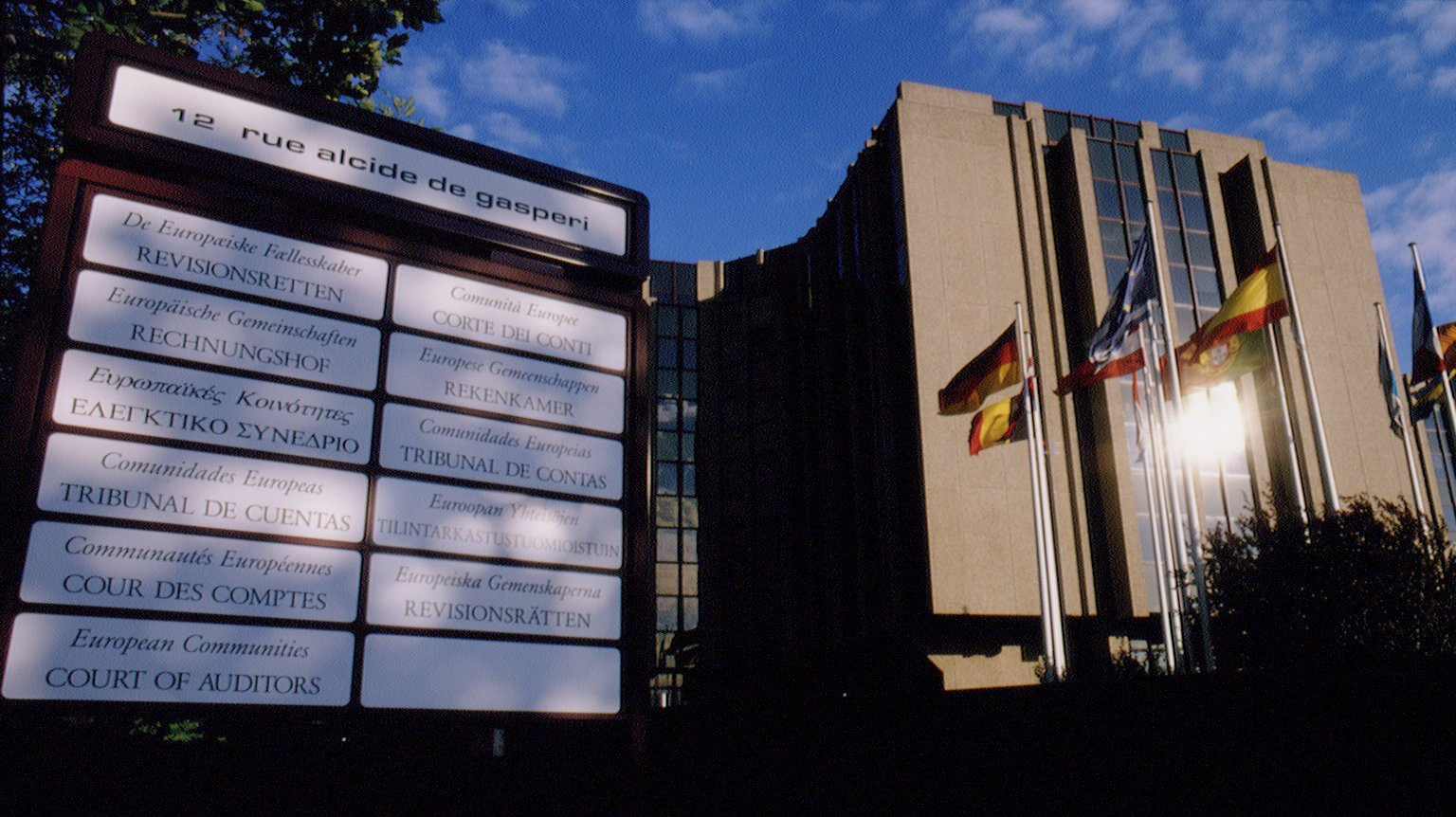 THE EUROPEAN COURT OF AUDITORS IN LUXEMBOURG