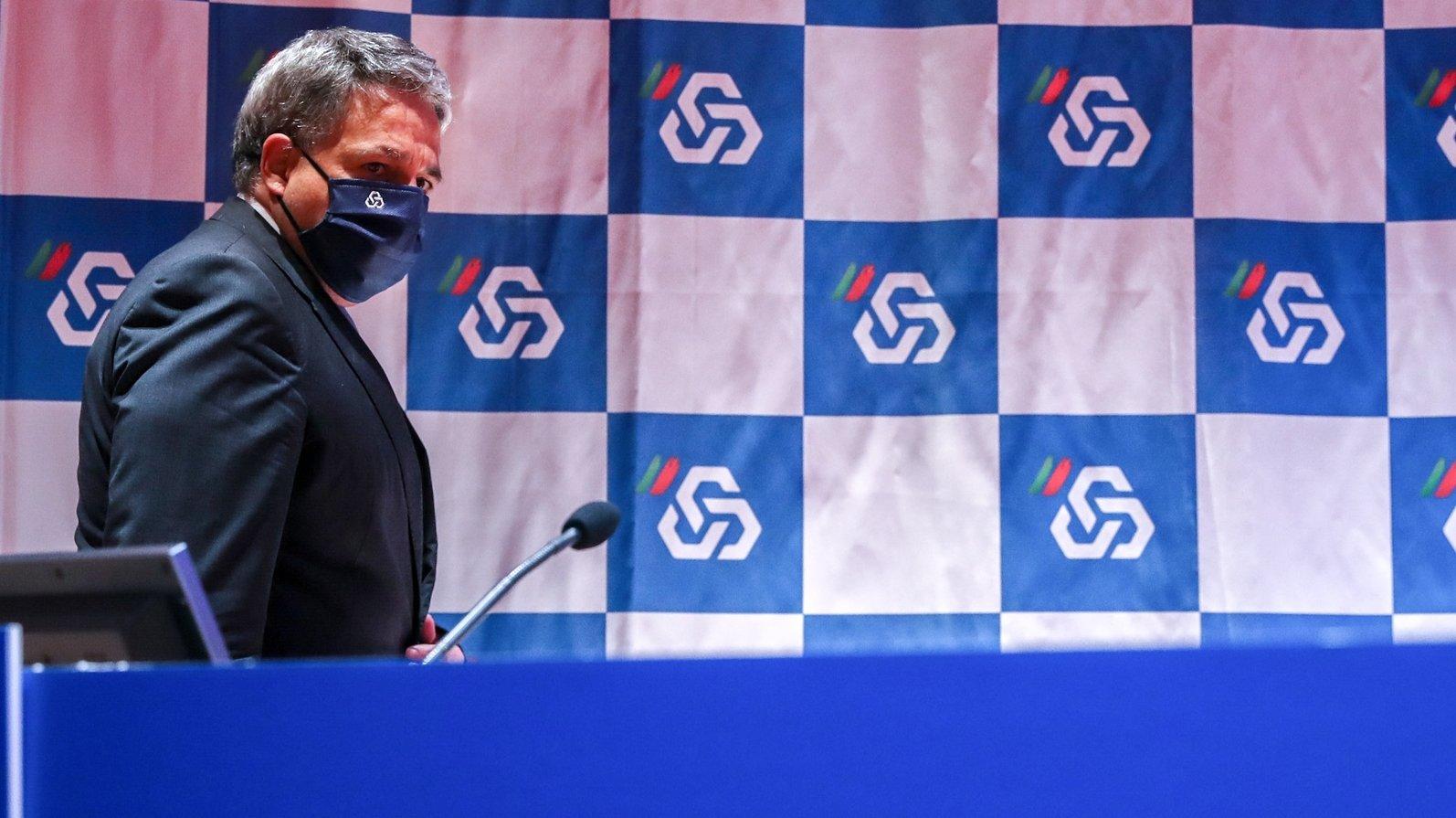 O presidente da Comissão Executiva da Caixa Geral de Depósitos, S.A., Paulo Macedo, durante a apresentação de resultados do 3.º trimestre 2020, na sede da CGD, em Lisboa, 05 de novembro de 2020. MANUEL DE ALMEIDA/LUSA