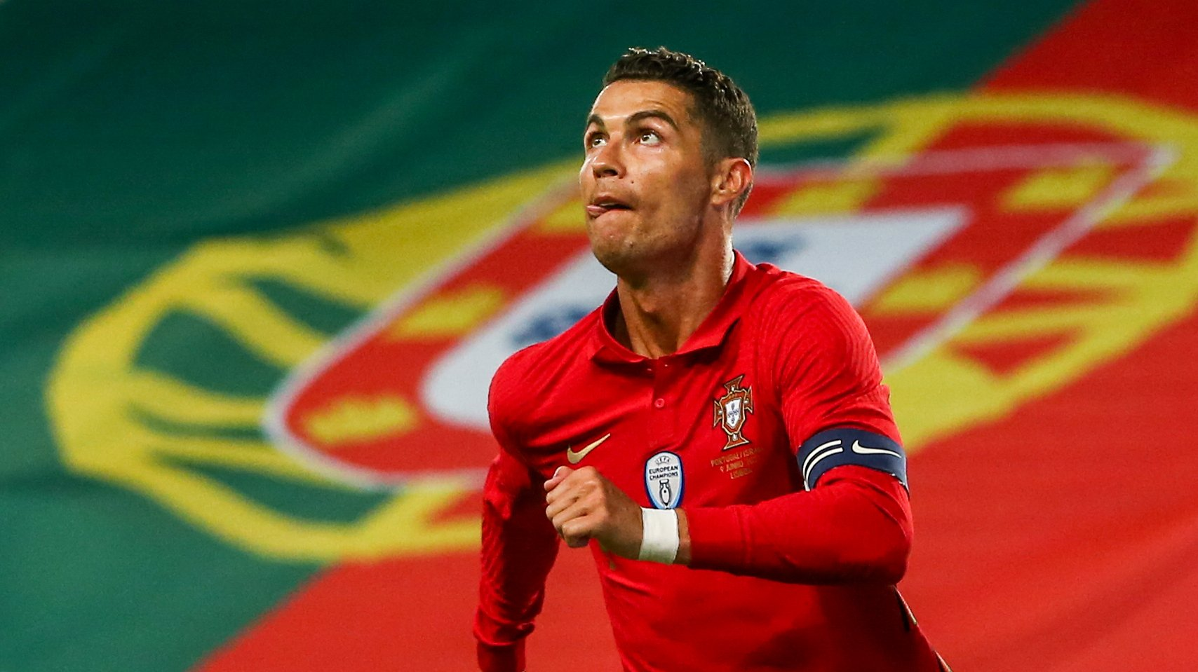 Portugal's Cristiano Ronaldo in action during their friendly match against Israel in preparation for the upcoming UEFA EURO 2020, at Alvalade Stadium in Lisbon, Portugal, 09 June 2021. JOSE SENA GOULAO/LUSA