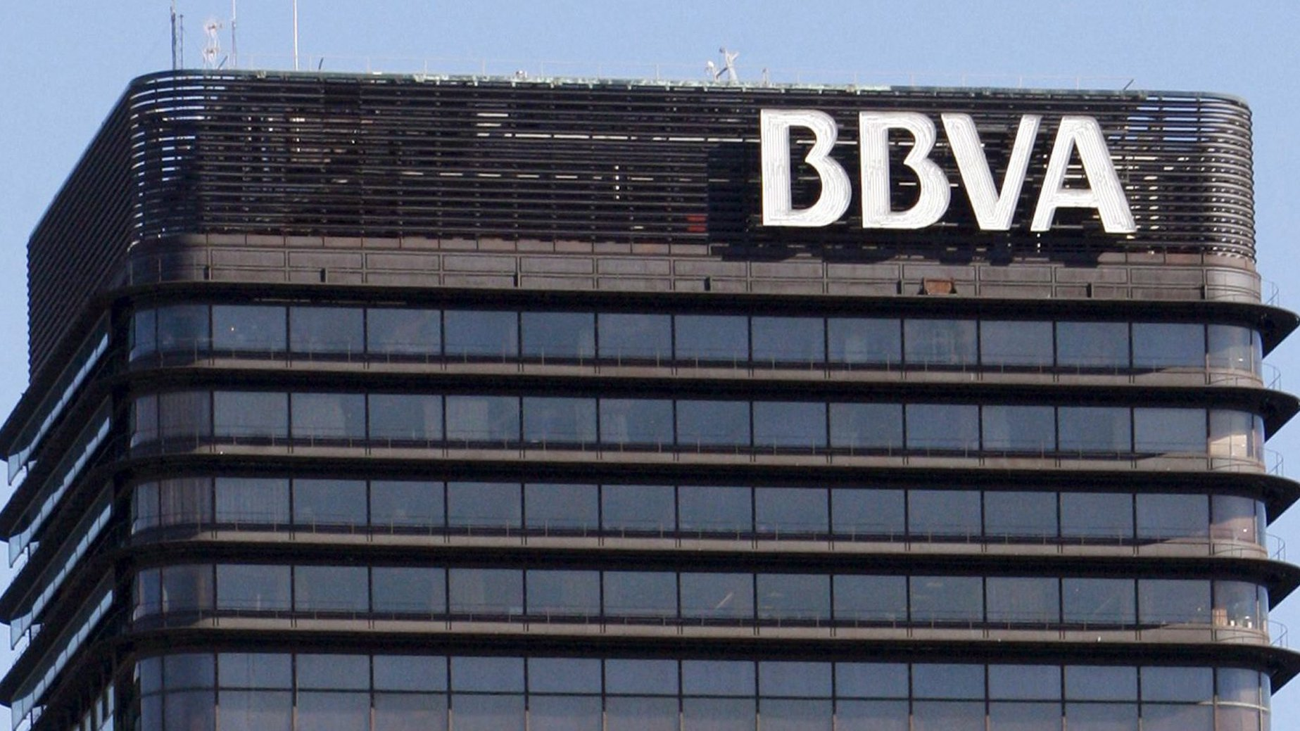 epa02259045 (FILE) A file photograph showing the logo on the headquarters of the Spanish bank BBVA in Madrid, Spain on 02 April 2008. The BBVA, as well as all other Spanish banks, passed a EU-wide stress-testing exercise conducted by the Committee of European Banking Supervisors (CEBS) and published on 23 July 2010. Four Spanish savings-and-loan banks, however, failed the stress test.  EPA/MANUEL H DE LEON