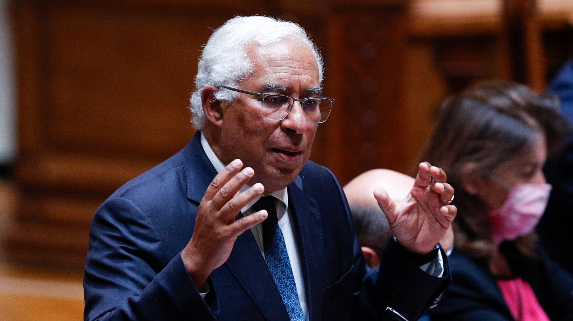 O primeiro-ministro, António Costa, intervém durante o debate sobre política geral, que decorreu na Assembleia da República, em Lisboa, 07 de junho de 2021. ANTÓNIO COTRIM/LUSA