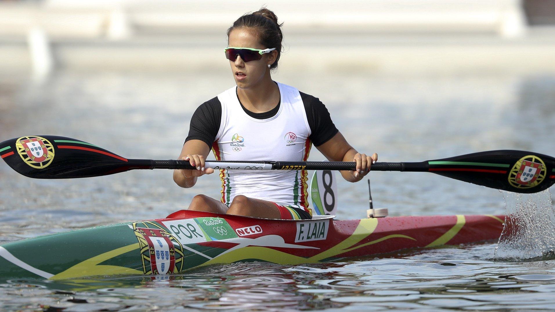 A canoísta portuguesa Francisca Laia classificou-se no 16.º lugar na prova de K1 200 metros dos Jogos Olímpicos Rio2016, ao terminar a final B no oitavo e último lugar, disputada na Lagoa Rodrigo  de Freitas, no Rio de Janeiro, Brasil, 16 de agosto de 2016. A XXI edição dos Jogos Olímpicos da Era Moderna, decorrem no Brasil entre os dias 06 - 21 de agosto. ANTÓNIO COTRIM/LUSA