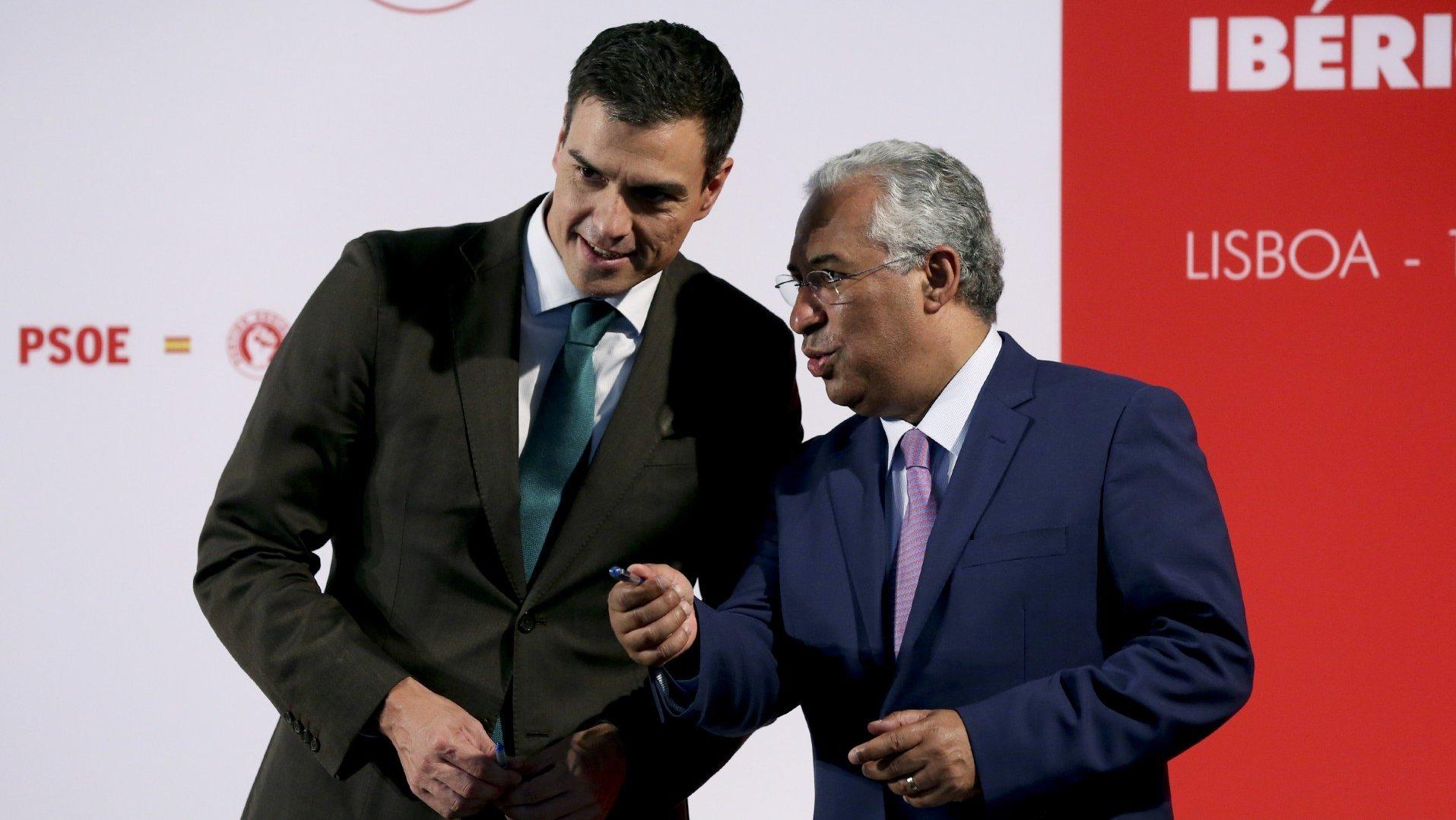 Encontro António Costa e Pedro Sánchez
