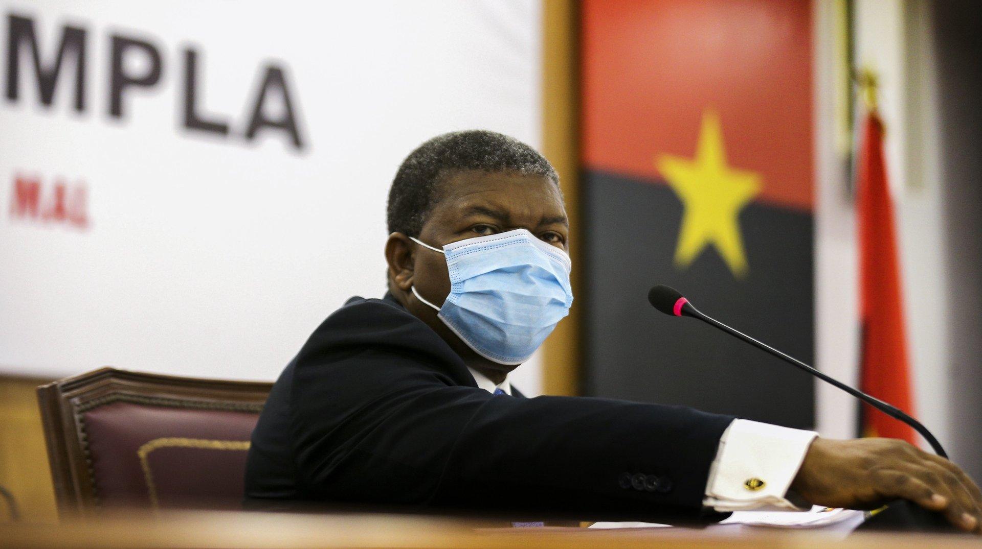 O Presidente da República de Angola, João Lourenço, preside à 1.ª Reunião Ordinária do Bureau Politico do Movimento Popular de Libertação de Angola (MPLA), em Luanda Angola, 22 de janeiro de 2021. AMPE ROGÉRIO/LUSA