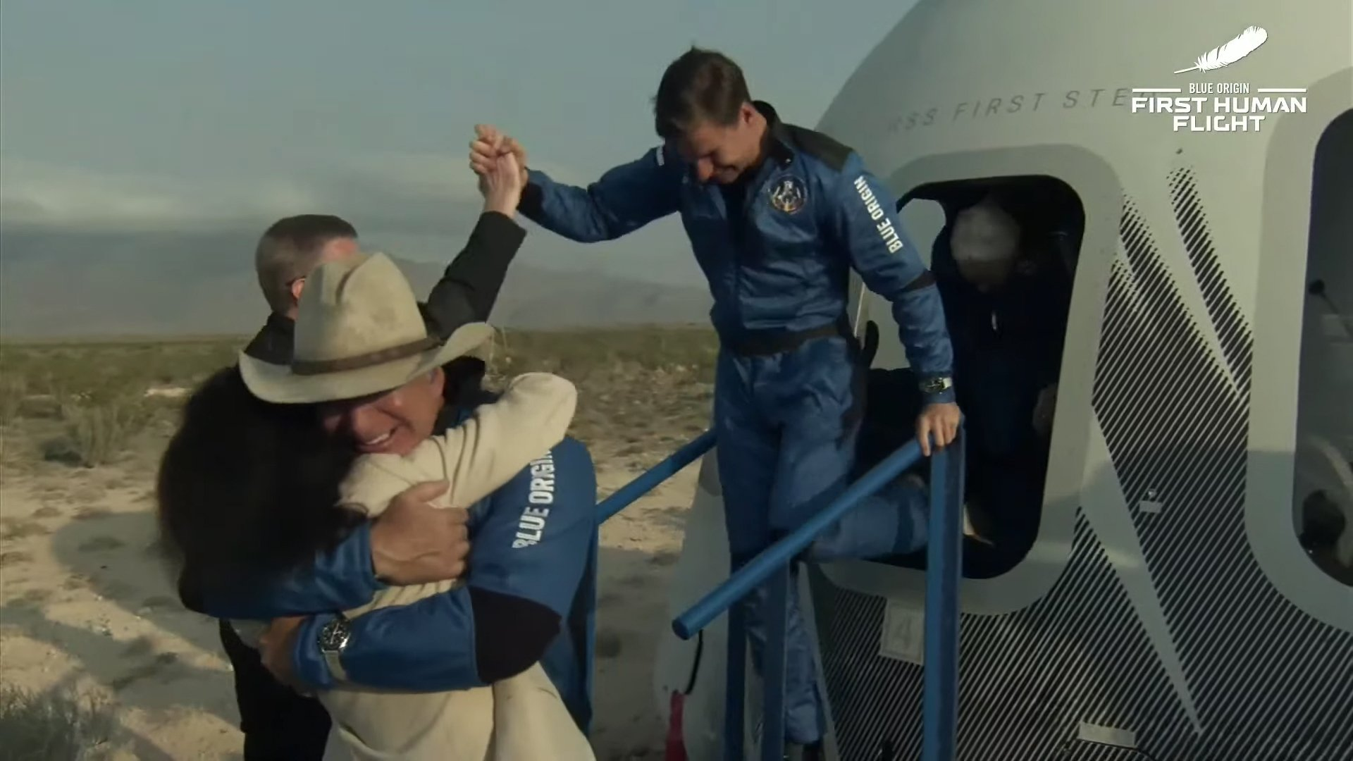 Blue Origin's Manned Launch Of New Shepard Rocket