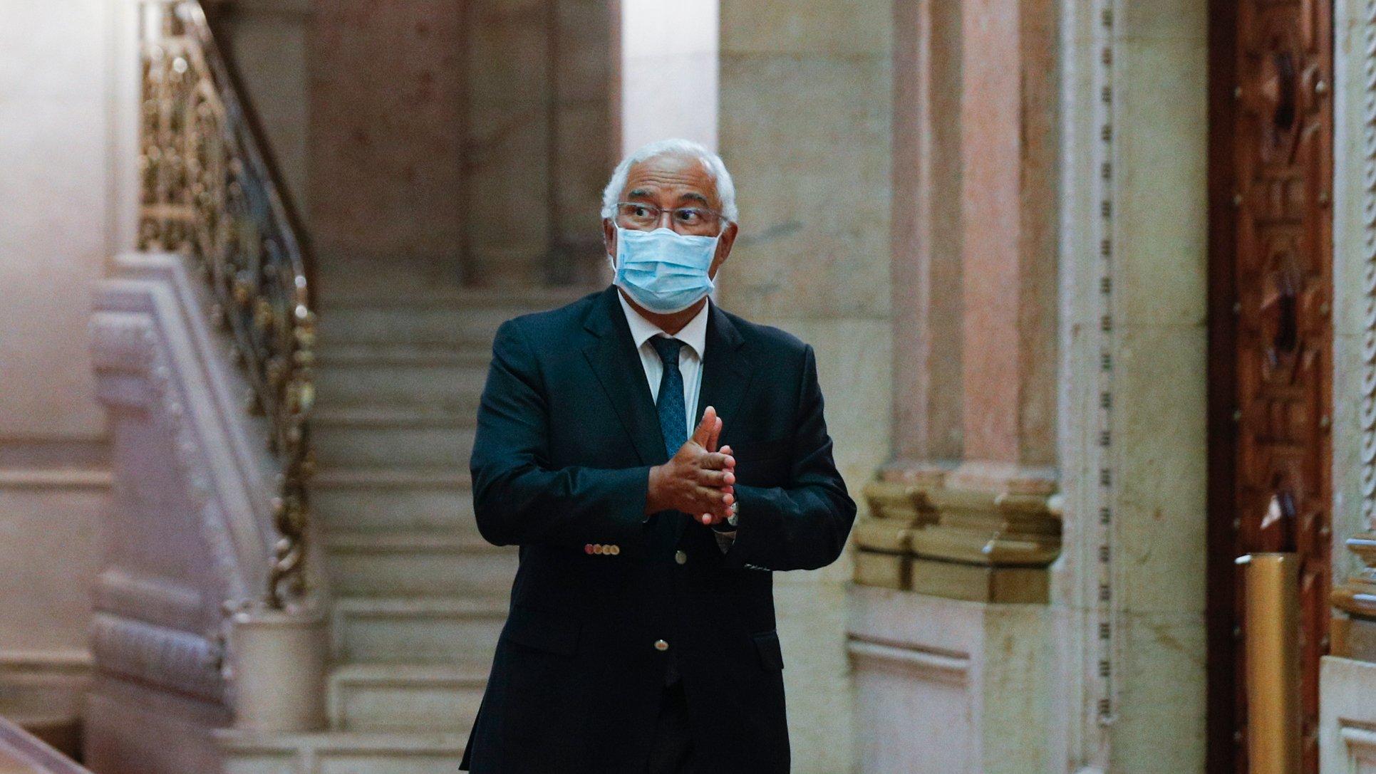 O primeiro-ministro, António Costa, à chegada para o debate sobre política geral na Assembleia da República, em Lisboa, 07 de junho de 2021. ANTÓNIO COTRIM/LUSA
