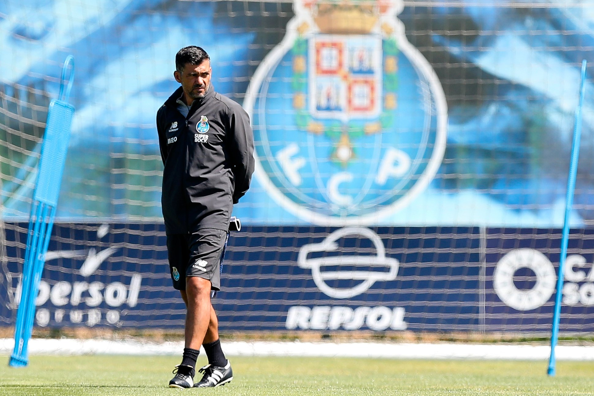 FC Porto's head-coach Sergio Conceicao during his team training session, at Olival training center, Vila Nova de Gaia, north of Portugal, 31 July 2020. FC Porto faces Benfica on the 1st August for the Portuguese Cup Final. JOSE COELHO/LUSA