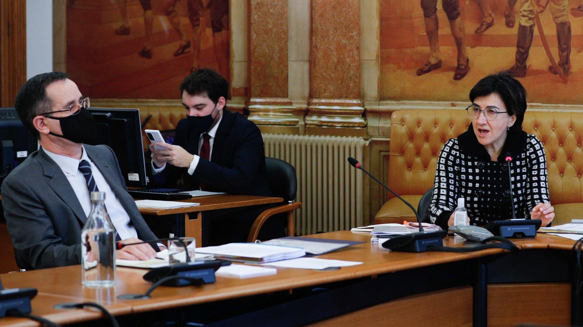 A ministra da Agricultura, Maria do Céu Antunes, durante a sua  audição  na comissão de Agricultura e Mar, na Assembleia da República, em Lisboa, 20 de janeiro de 2021. ANTÓNIO COTRIM/LUSA
