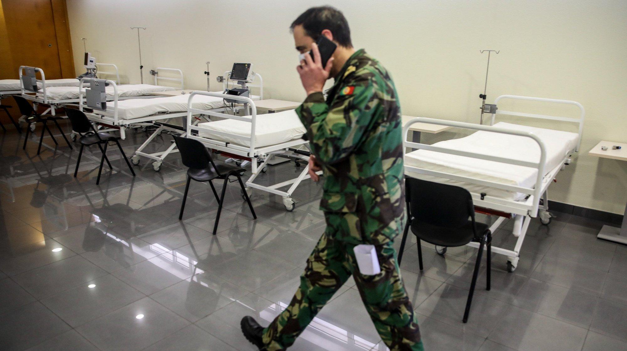 Polo de Lisboa do Hospital das Forças Armadas que aumentou a capacidade disponibilizada por esta unidade hospitalar, de camas de internamento e de cuidados intensivos para doentes com COVID-19, provenientes do Serviço Nacional de Saúde, Lisboa, 11 janeiro 2021.ANDRE KOSTERS / LUSA