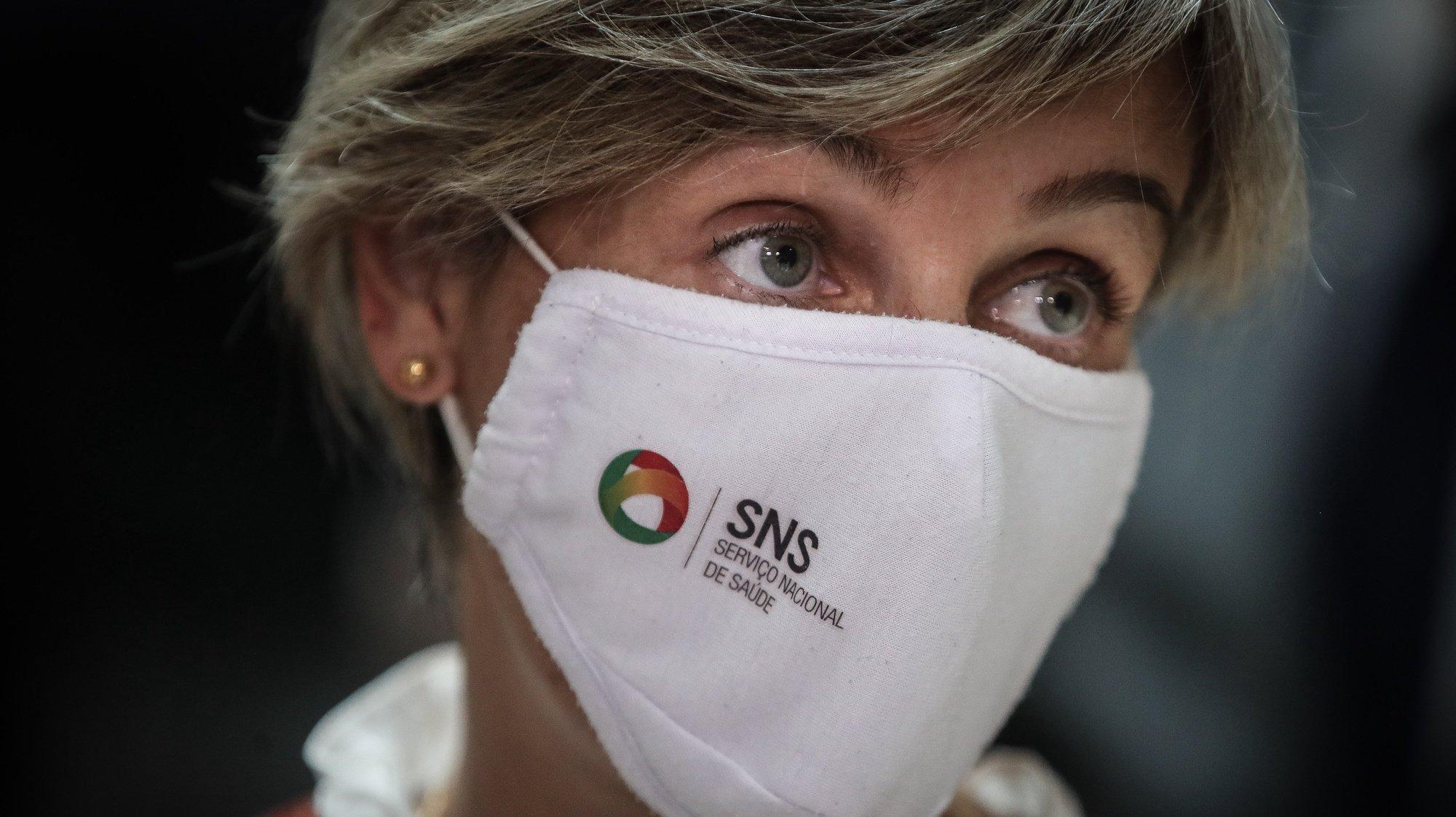 A ministra da Saúde, Marta Temido, participa na tomada de posse dos órgãos sociais da Associação Nacional das Farmácias (ANF), em Lisboa, 21 de junho de 2021. MÁRIO CRUZ/LUSA