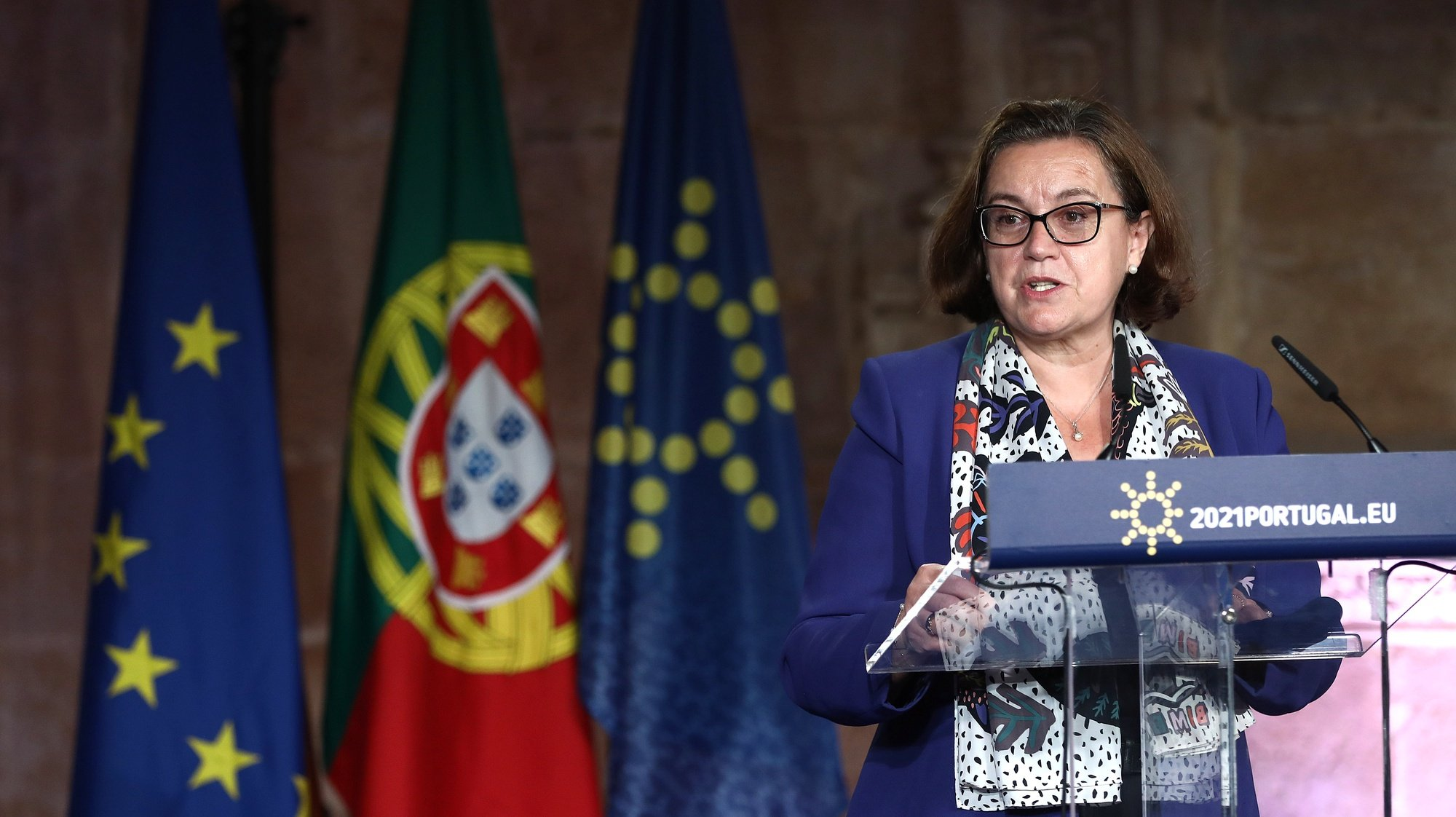 epa09278988 Portuguese Secretary of State for European Affairs Ana Paula Zacarias attends a Conference on the Launch of Creative Europe under the Portuguese Presidency of the Council of the European Union in Lisbon, Portugal, 17 June 2021. The high-level conference will feature speakers from all over Europe – cultural agents, thinkers, politicians, and governmental decision-makers – with the aim of getting Europe behind the new Creative Europe Program.  EPA/ANTONIO PEDRO SANTOS