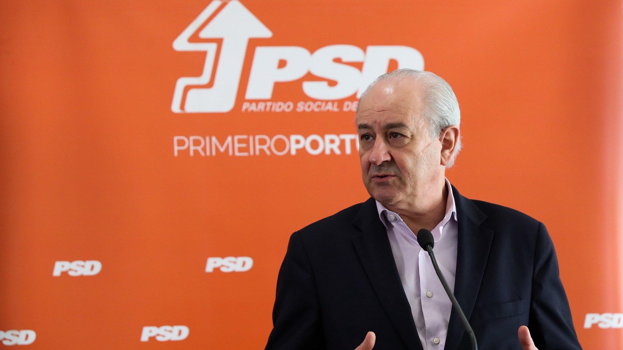 O presidente do PSD, Rui Rio, durante a conferência de imprensa no final da reunião da Coordenação Nacional do Conselho Estratégico Nacional do partido, na Figueira da Foz, 3 de de julho de 2021. PAULO NOVAIS/LUSA