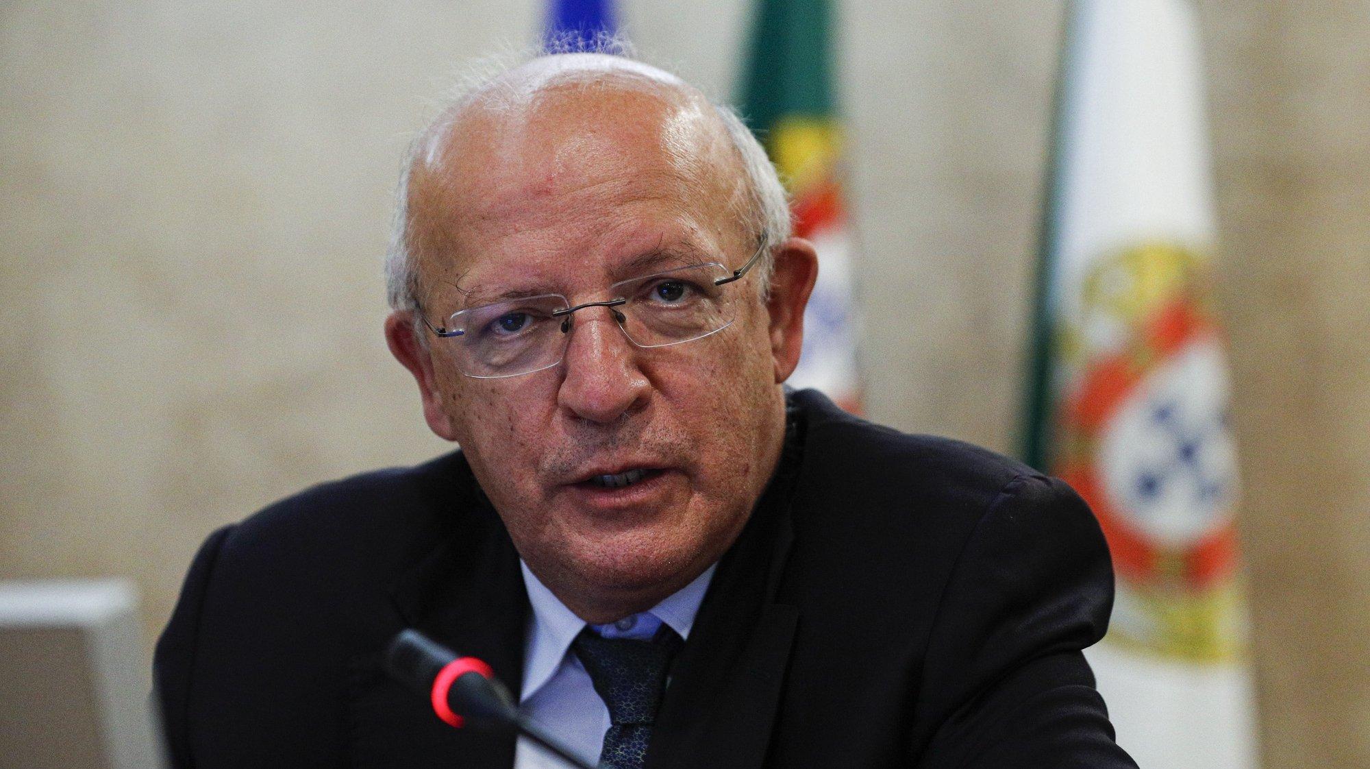 O ministro de Estado e dos Negócios Estrangeiros, Augusto Santos Silva, durante a sua audição perante a Comissão de Assuntos Europeus, na Assembleia da República, em Lisboa, 23 de junho de 2021. ANTÓNIO COTRIM/LUSA