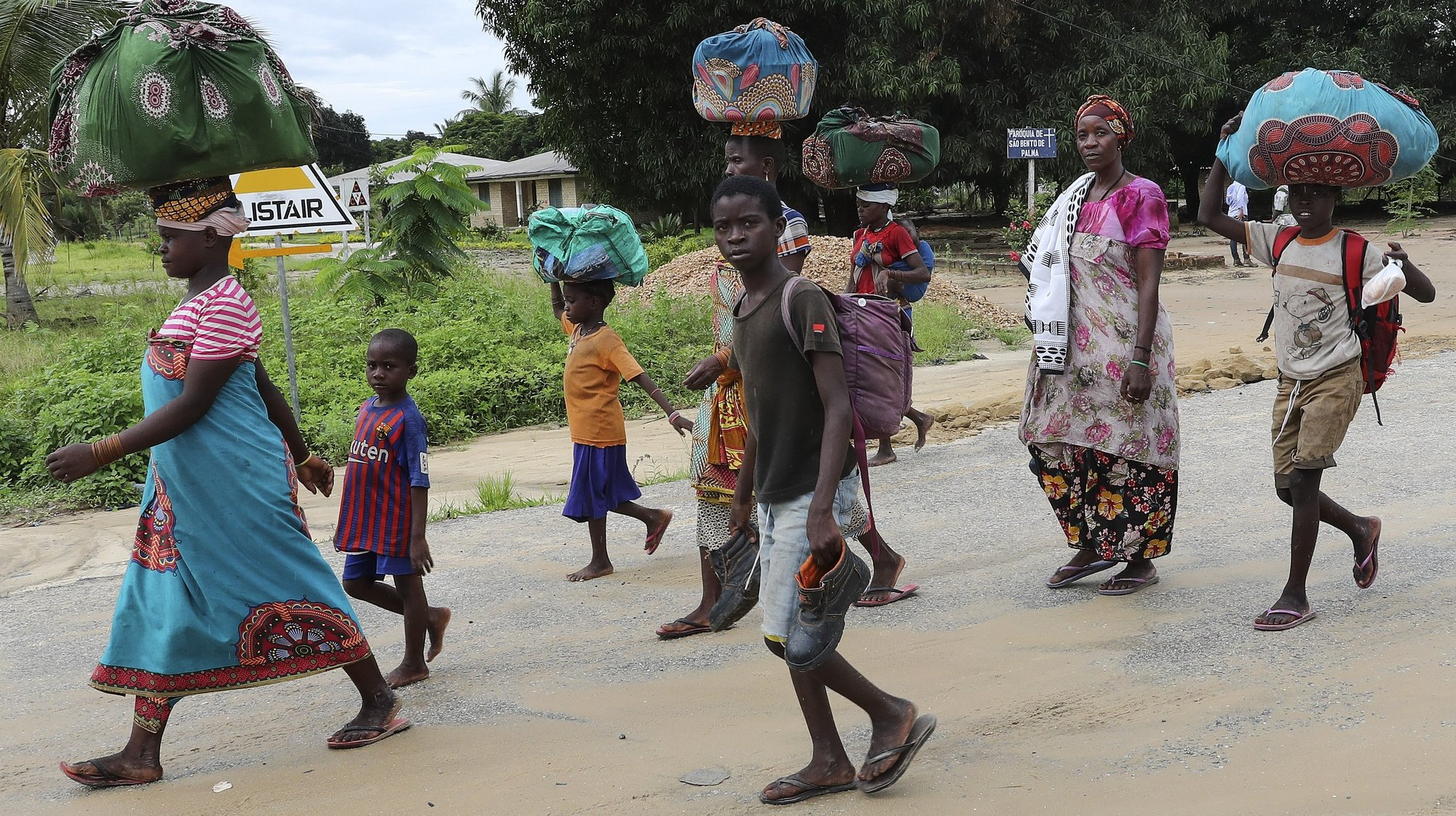 Residents try to return to normality in Palma., Cabo Delgado, Mozambique, 12 April 2021. The violence unleashed more than three years ago in Cabo Delgado province escalated again about two weeks ago, when armed groups first attacked the town of Palma. JOAO RELVAS/LUSA