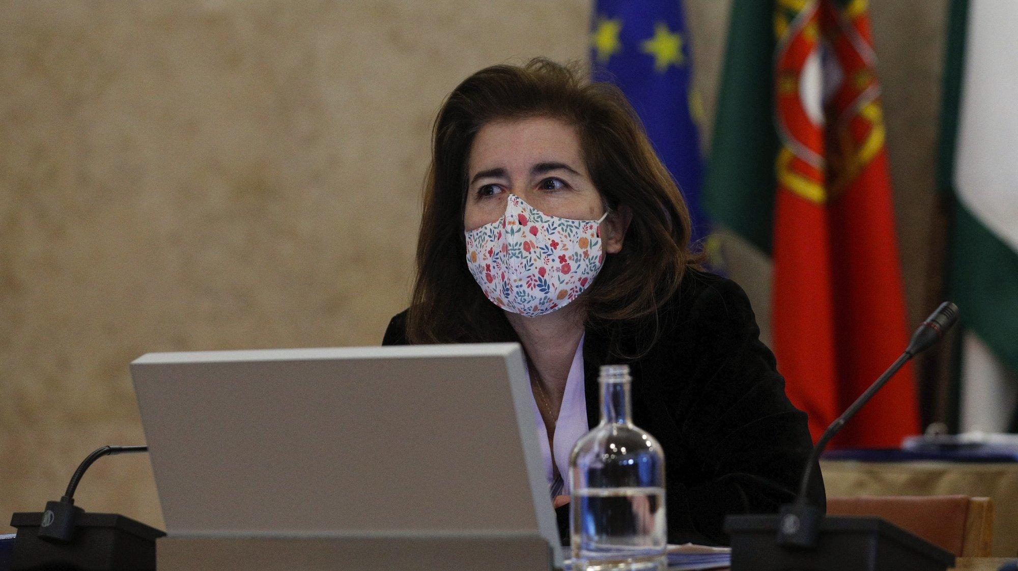 A ministra do Trabalho, Solidariedade e Segurança Social, Ana Mendes Godinho, durante a sua audição perante a Comissão de Trabalho e Segurança Social, na Assembleia da República, em Lisboa, 10 de fevereiro de 2021. ANTÓNIO COTRIM/LUSA