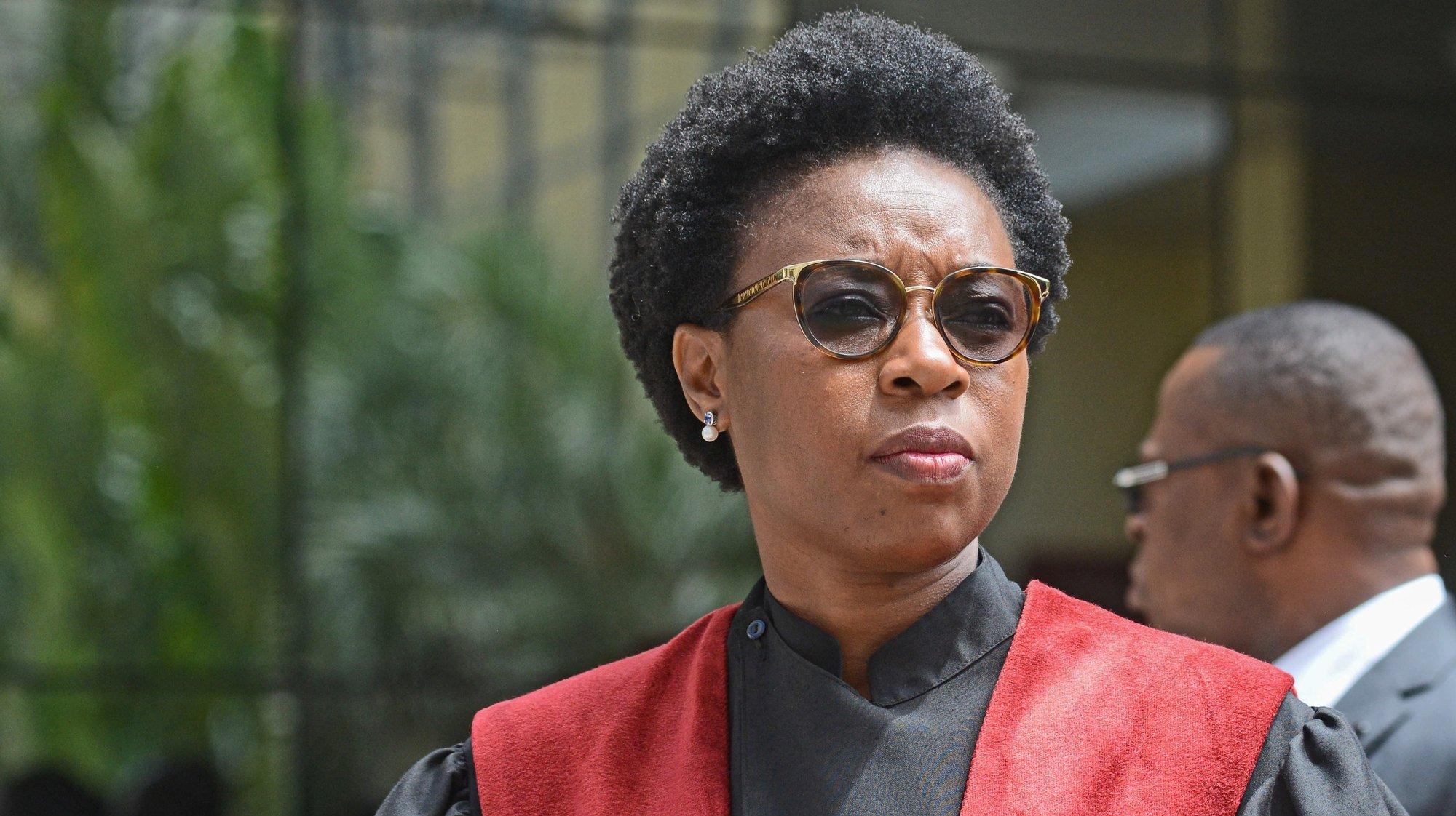 A procuradora-geral da República, Beatriz Buchili, durante a cerimónia oficial de abertura do ano judicial, em Maputo, Moçambique, 04 de fevereiro de 2020. ANTÓNIO SILVA/LUSA