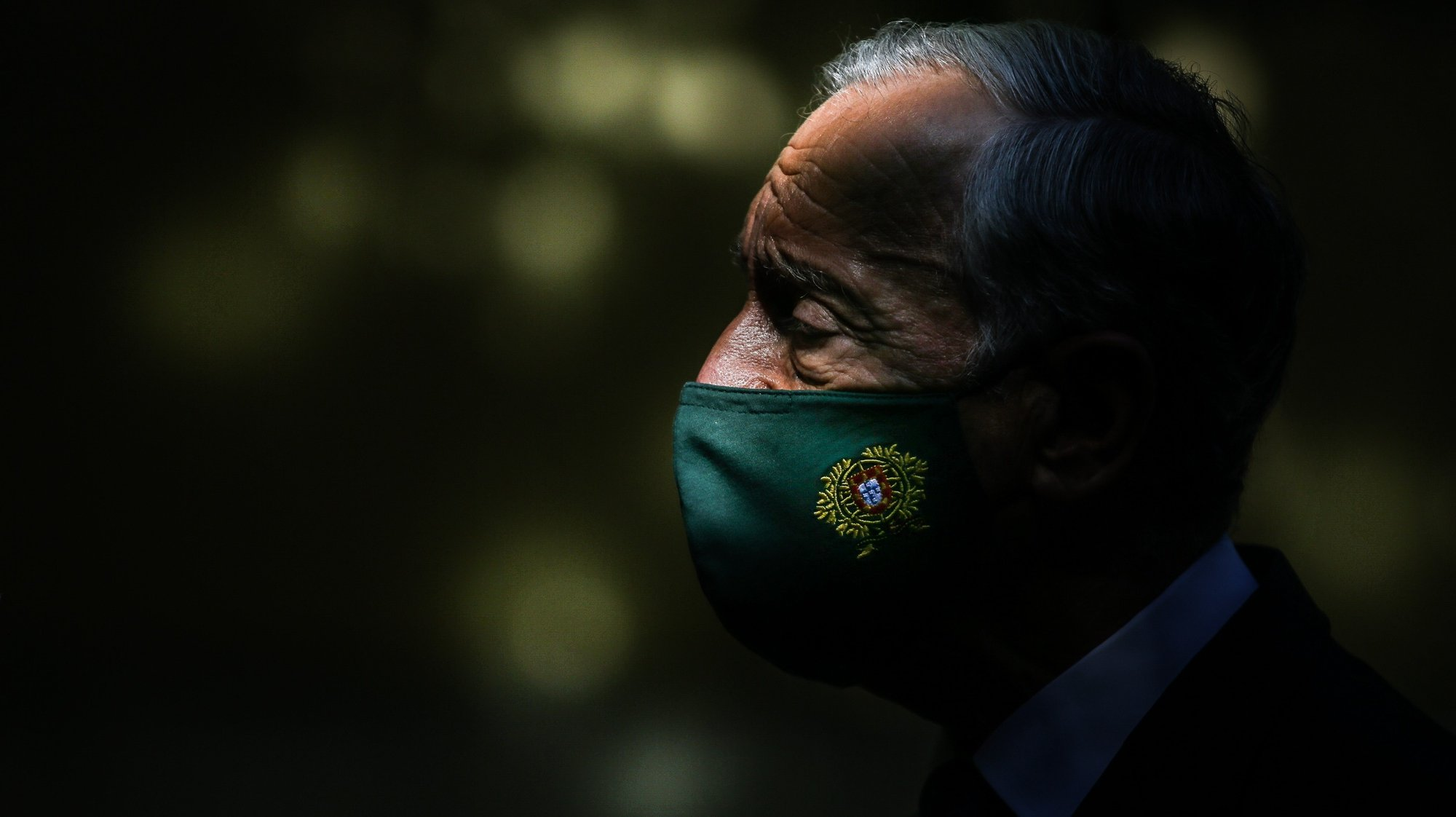 O Presidente da República, Marcelo Rebelo de Sousa, após visitar o Centro de Vacinação contra a covid-19 do Estádio Universitário de Lisboa, em Lisboa, 23 de junho de 2021. MÁRIO CRUZ/LUSA