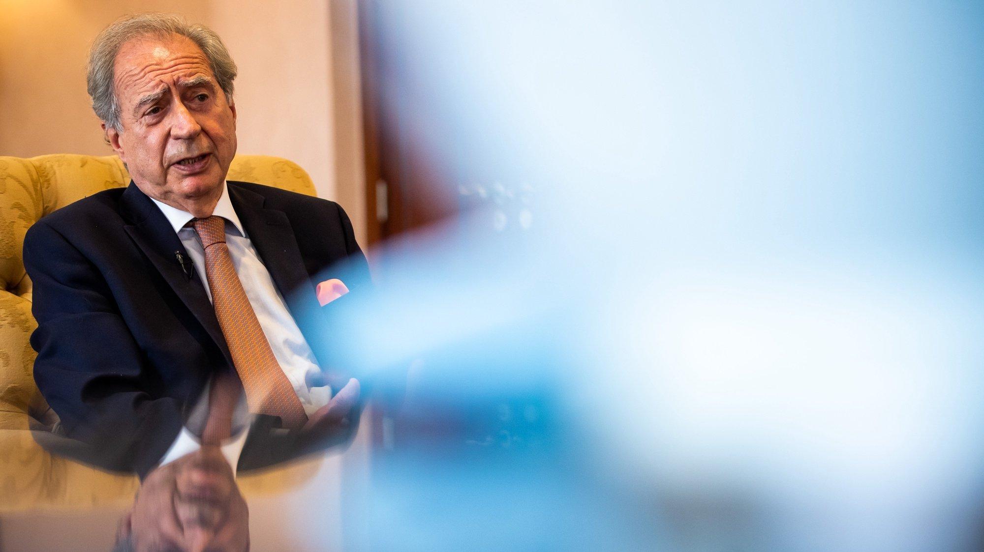 O presidente do Conselho de Administração da Fundação Millennium BCP, António Monteiro, em entrevista à Lusa sobre CPLP, na sede do Millenium BCP, em Lisboa, 25 de junho de 2021. (ACOMPANHA TEXTO DO DIA 13 JULHO 2021).  JOSE SENA GOULAO/LUSA