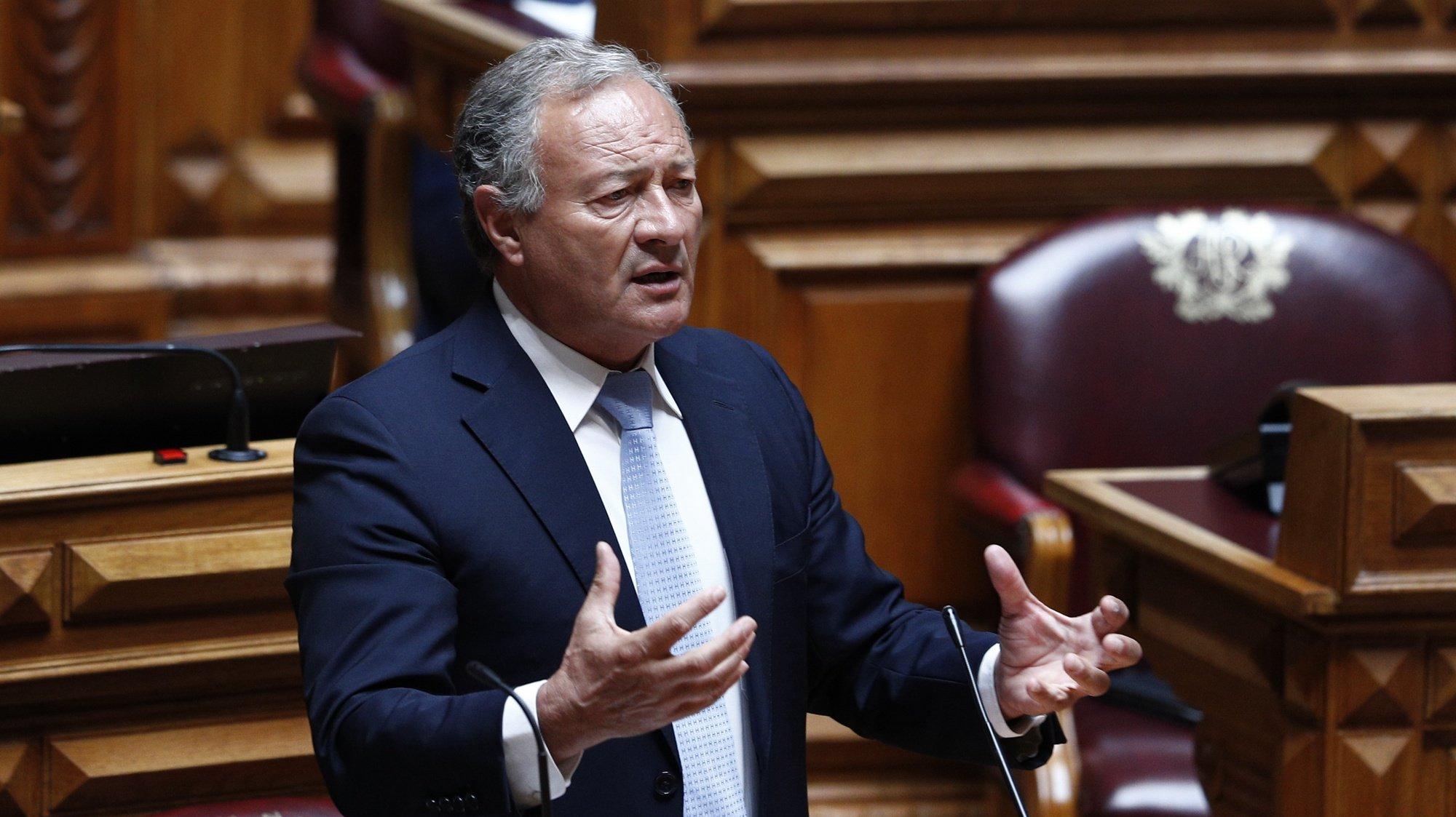 O vice presidente do PSD, Adão e Silva, intervém durante o debate parlamentar sobre o estado da Nação, na Assembleia da República, em Lisboa, 21 de julho de 2021. ANTÓNIO COTRIM/LUSA