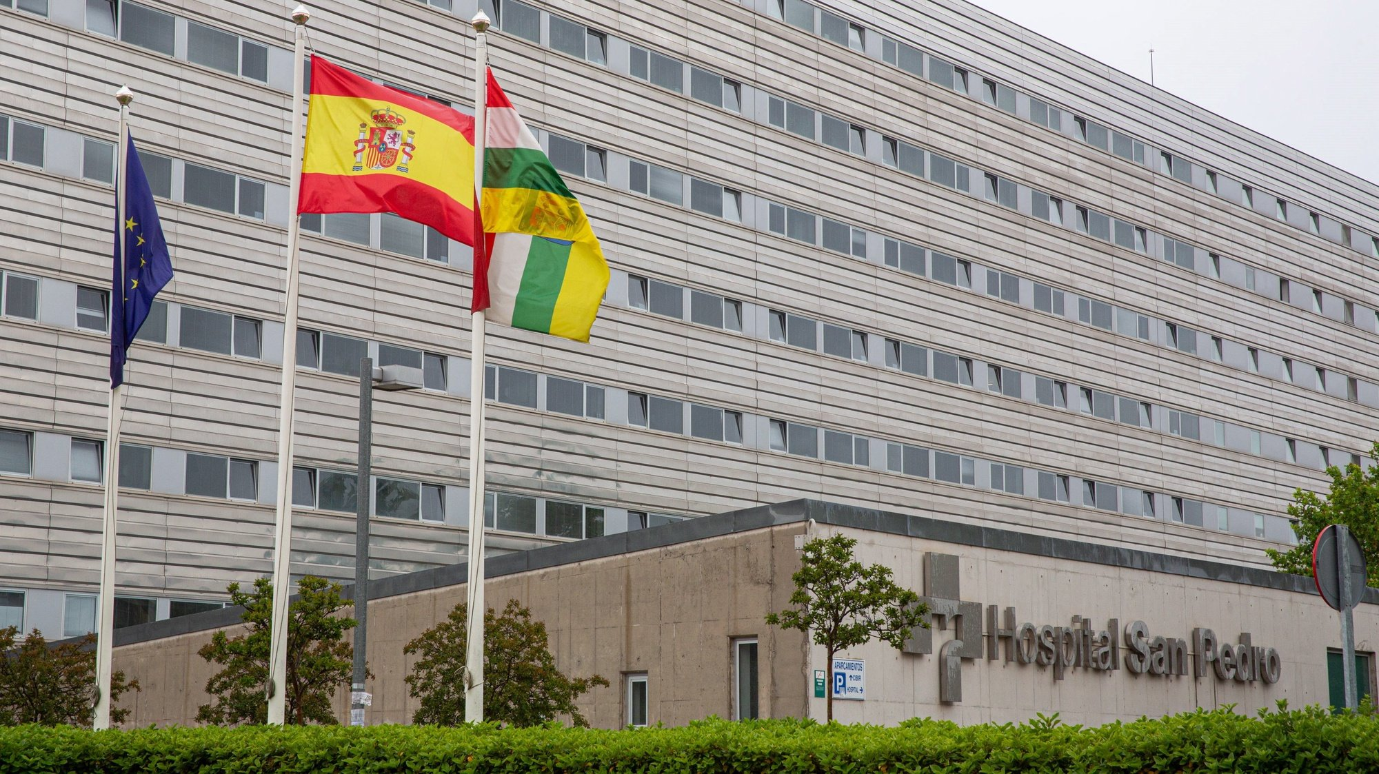 epa09240680 An exterior view of the Hospital San Pedro in Logrono, Spain, 01 June 2021, where the Secretary-General of the Polisario Front, Brahim Ghali, is being treated. Ghali will be declaring before the Audiencia Nacional Judge for the first time on 01 June 2021, in relation to the investigation of two complaints against him for genocide and crimes against humanity.  EPA/RAQUEL MANZANARES