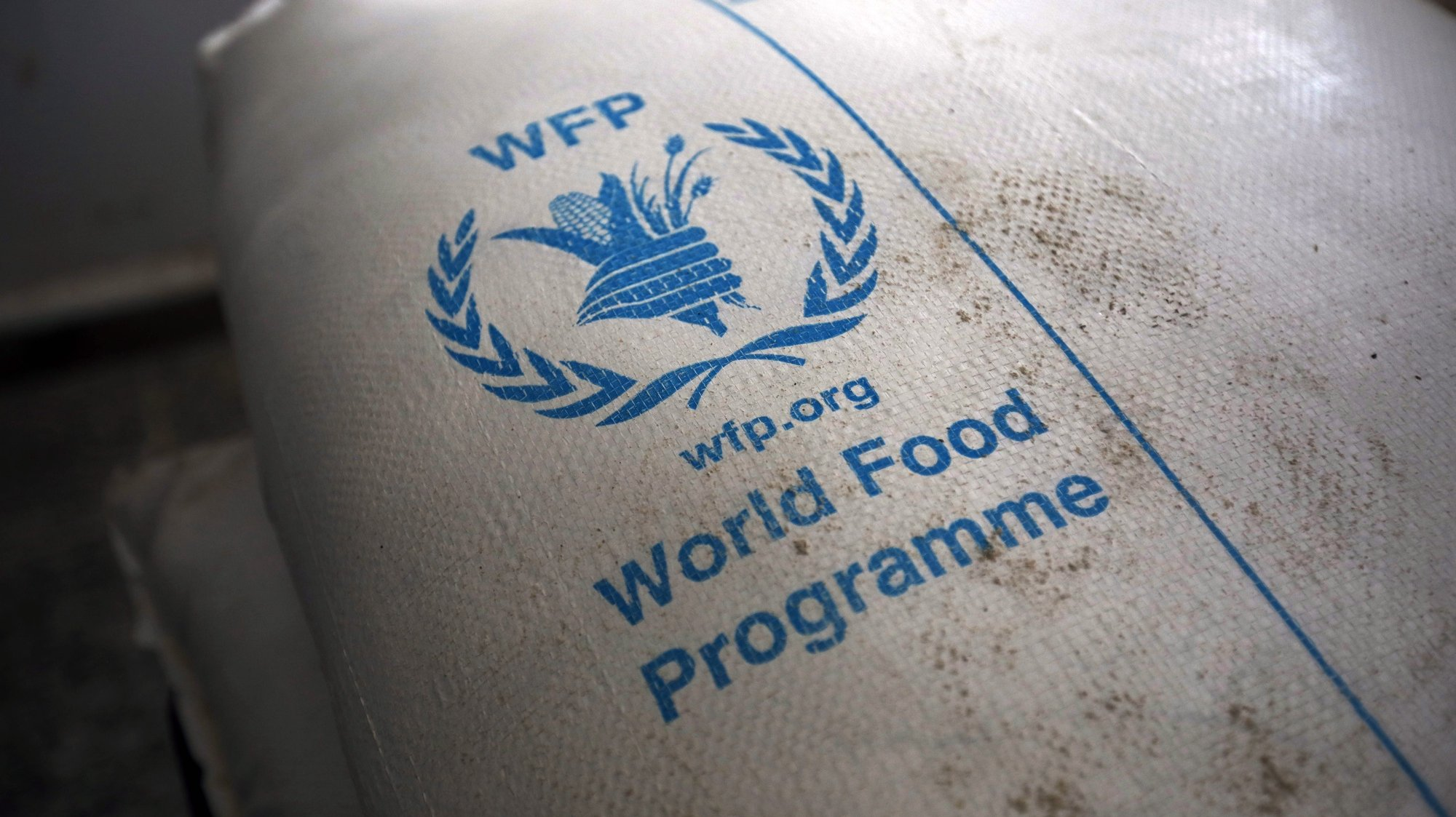 epa08731081 (FILE) - Food rations provided by the World Food Programme (WFP) sit at an aid distribution center in Sana'a, Yemen, 11 February 2020 (reissued 09 October 2020). The 2020 Nobel Peace Prize has been awarded to World Food Programme, the  Norwegian Nobel Committee announced in Oslo.  EPA/YAHYA ARHAB *** Local Caption *** 55868814
