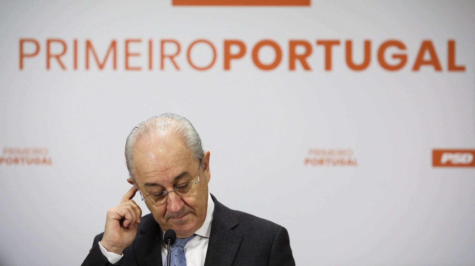 O presidente do Partido Social Democrata (PSD) Rui Rio realiza uma conferência de imprensa sobre as eleições autárquicas e a pandemia, na sede do partido no Porto, 12 de fevereiro de 2021. JOSÉ COELHO/LUSA