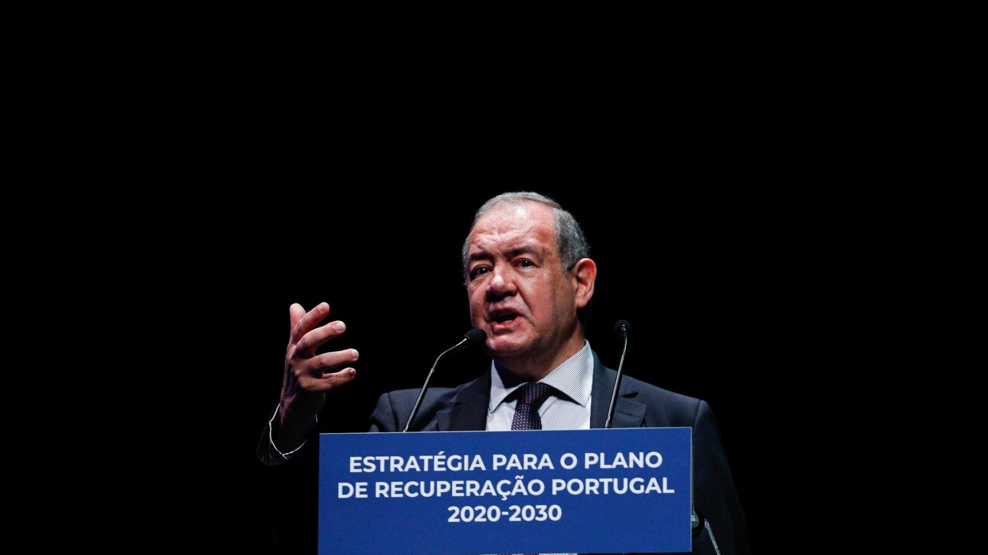 O gestor e académico, António Costa e Silva.intervem durante a sessão de apresentação da versão final do Plano de Recuperação Económica até 2030  realizada na Fundação Calouste Gulbenkian, em Lisboa, 15 de setembro de 2020. ANTÓNIO COTRIM/LUSA