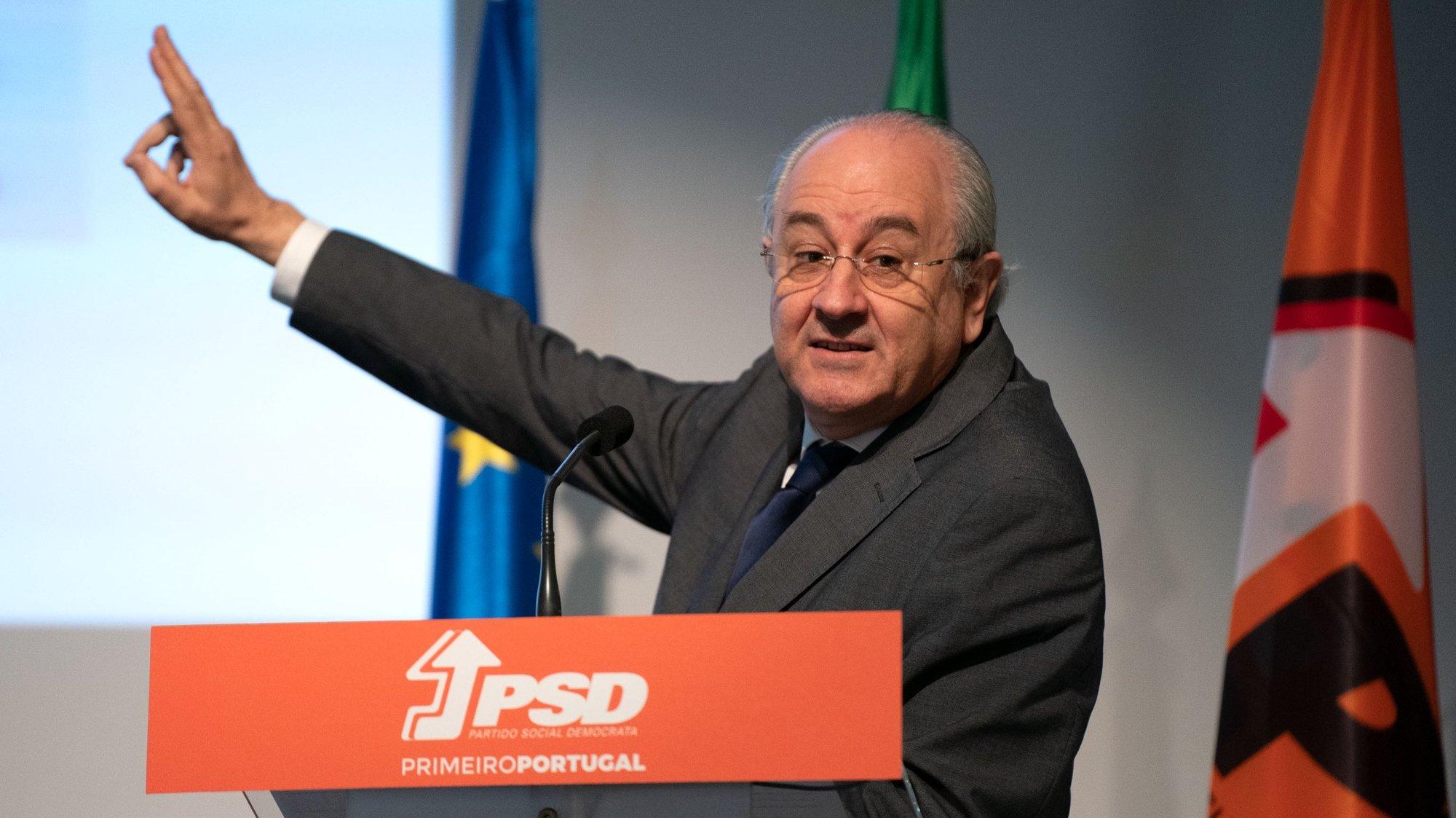 O presidente do Partido Social Demovtara (PSD), Rui Rio, durante a apresentação da proposta para reforma do sistema eleitoral, na Casa Municipal da Cultura de Pedrógão Grande, 23 de julho de 2021. SÉRGIO AZENHA/LUSA