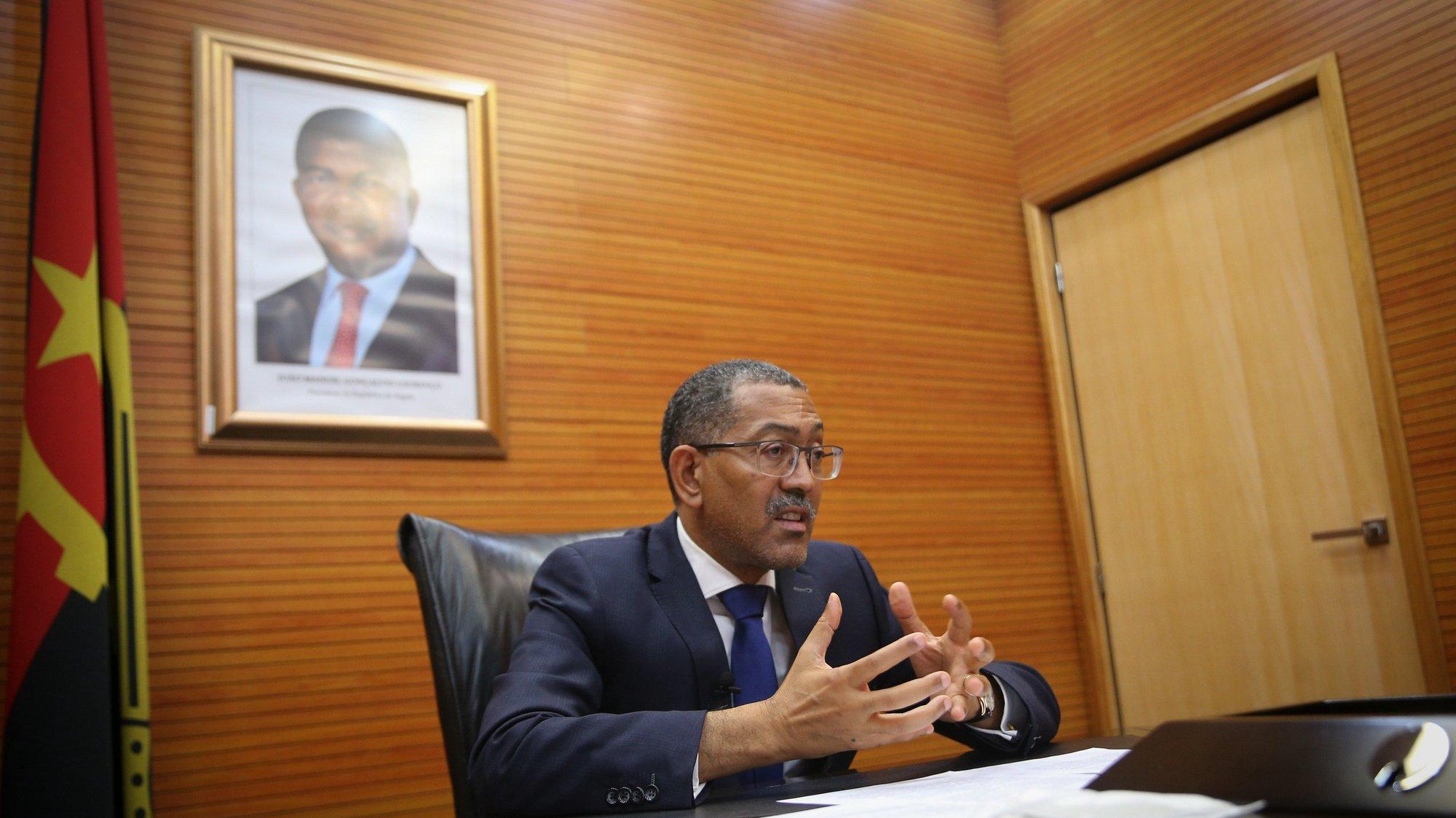 O ministro dos Recursos Minerais, Petróleo e Gás de Angola, Diamantino Azevedo, durante entrevista à agencia Lusa, em Luanda, Angola, 11 junho 2021. (ACOMPANHA TEXTO DO DIA 14 JUNHO 2021). AMPE ROGÉRIO / LUSA