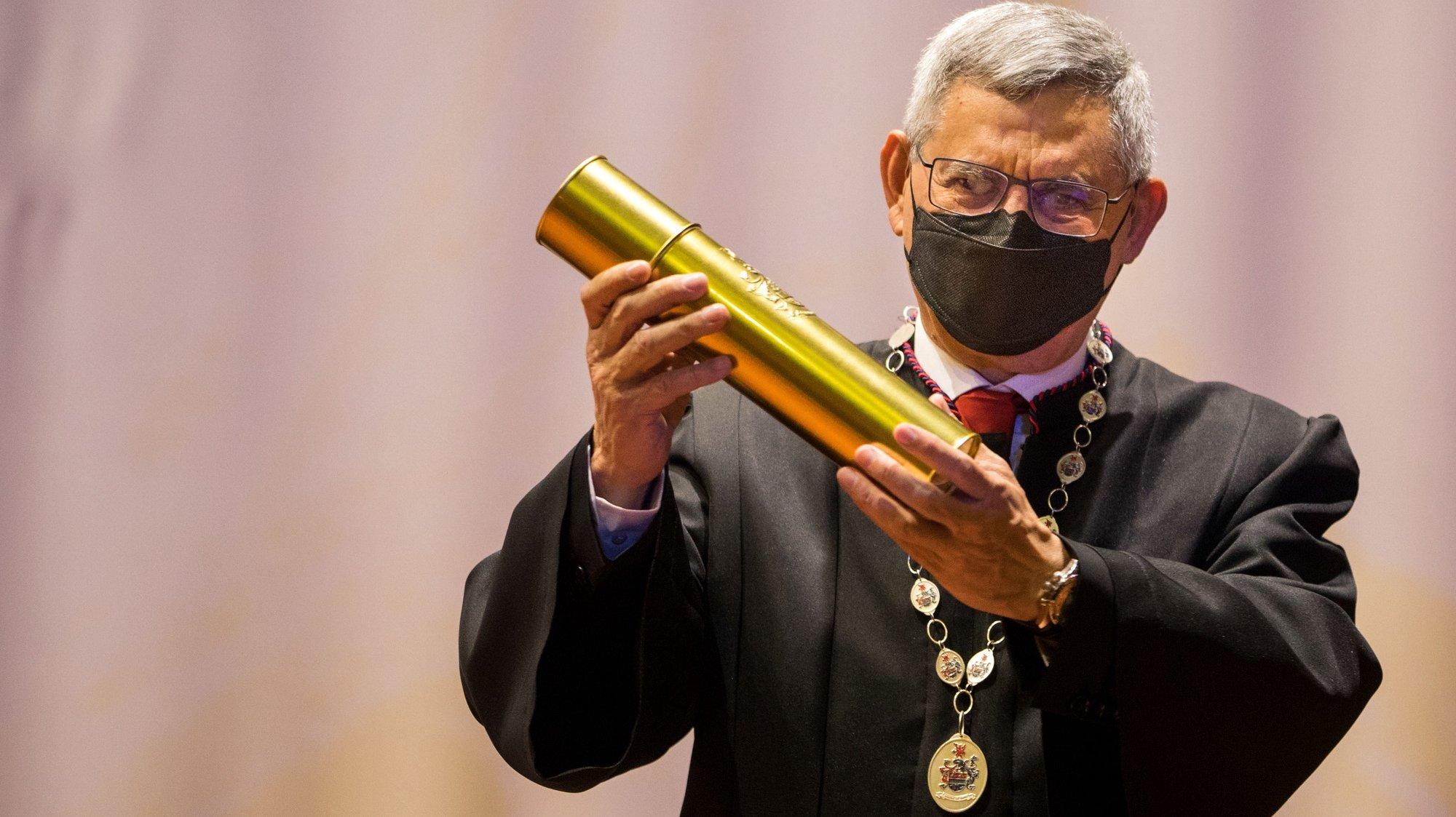 A Universidade Portucalense (UPT) atribui o título Honoris Causa ao Presidente da República de Cabo Verde, Jorge Carlos Fonseca, Porto, 16 de junho de 2021. JOSÉ COELHO/LUSA
