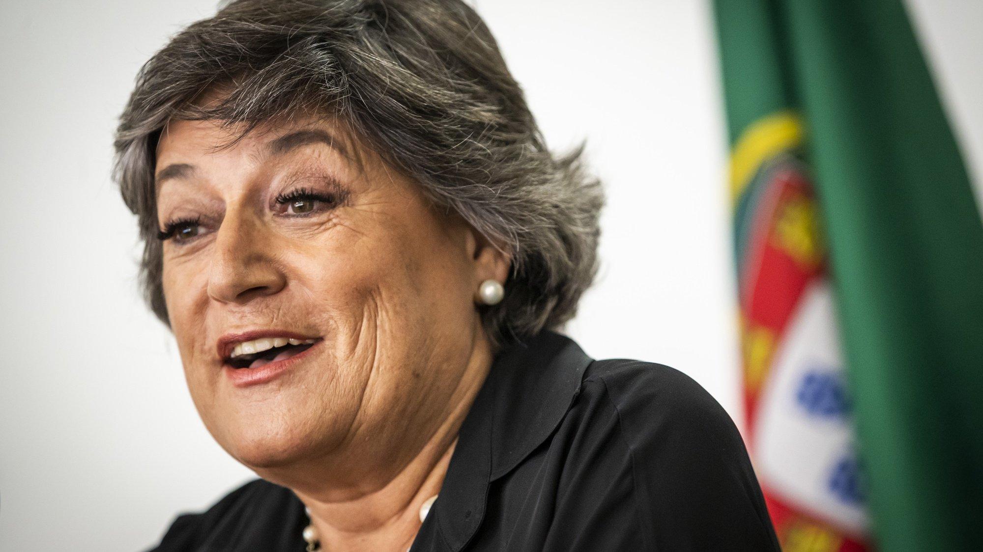 A ex-eurodeputada socialista, Ana Gomes, durante o anúncio da sua candidatura à Presidência da República, na Casa da Imprensa, em Lisboa,10 de setembro de 2020. JOSÉ SENA GOULÃO/LUSA