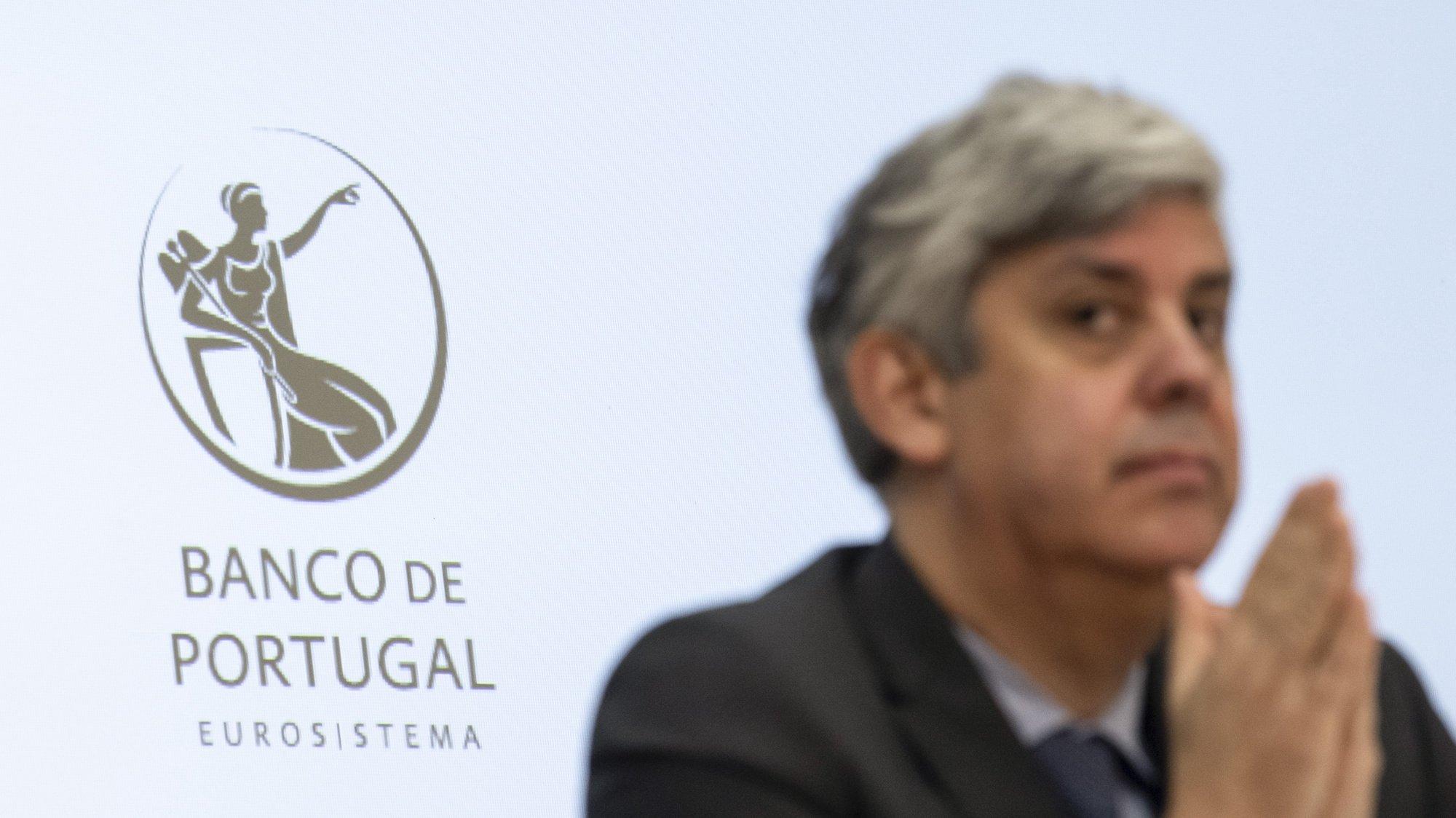 O governador do Banco de Portugal, Mário Centeno, durante a apresentação do Relatório de Estabilidade Financeira, no Banco de Portugal, em Lisboa, 17 de dezembro de 2020. JOSÉ SENA GOULÃO/LUSA