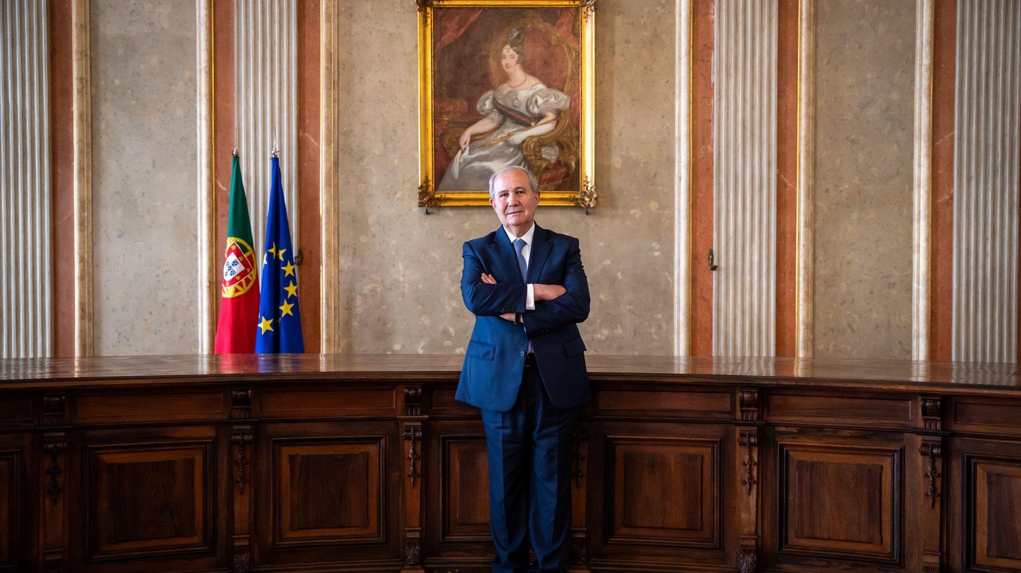 O presidente do Supremo Tribunal de Justiça, António Piçarra, em entrevista à Agência Lusa, no Supremo Tribunal de Justiça, em Lisboa, 06 de abril de 2021.  JOSE SENA GOULAO/LUSA (ACOMPANHA TEXTO DE 08 DE ABRIL DE 2021)