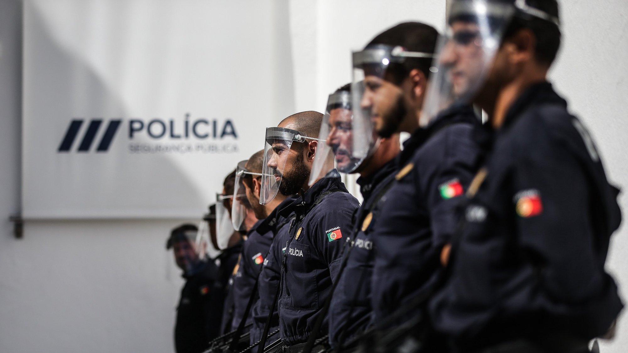 Cerimónia comemorativa do 153.º Aniversário da Polícia de Segurança Pública (PSP), Direção Nacional da PSP, em Lisboa, 2 de julho de 2020. MÁRIO CRUZ/LUSA