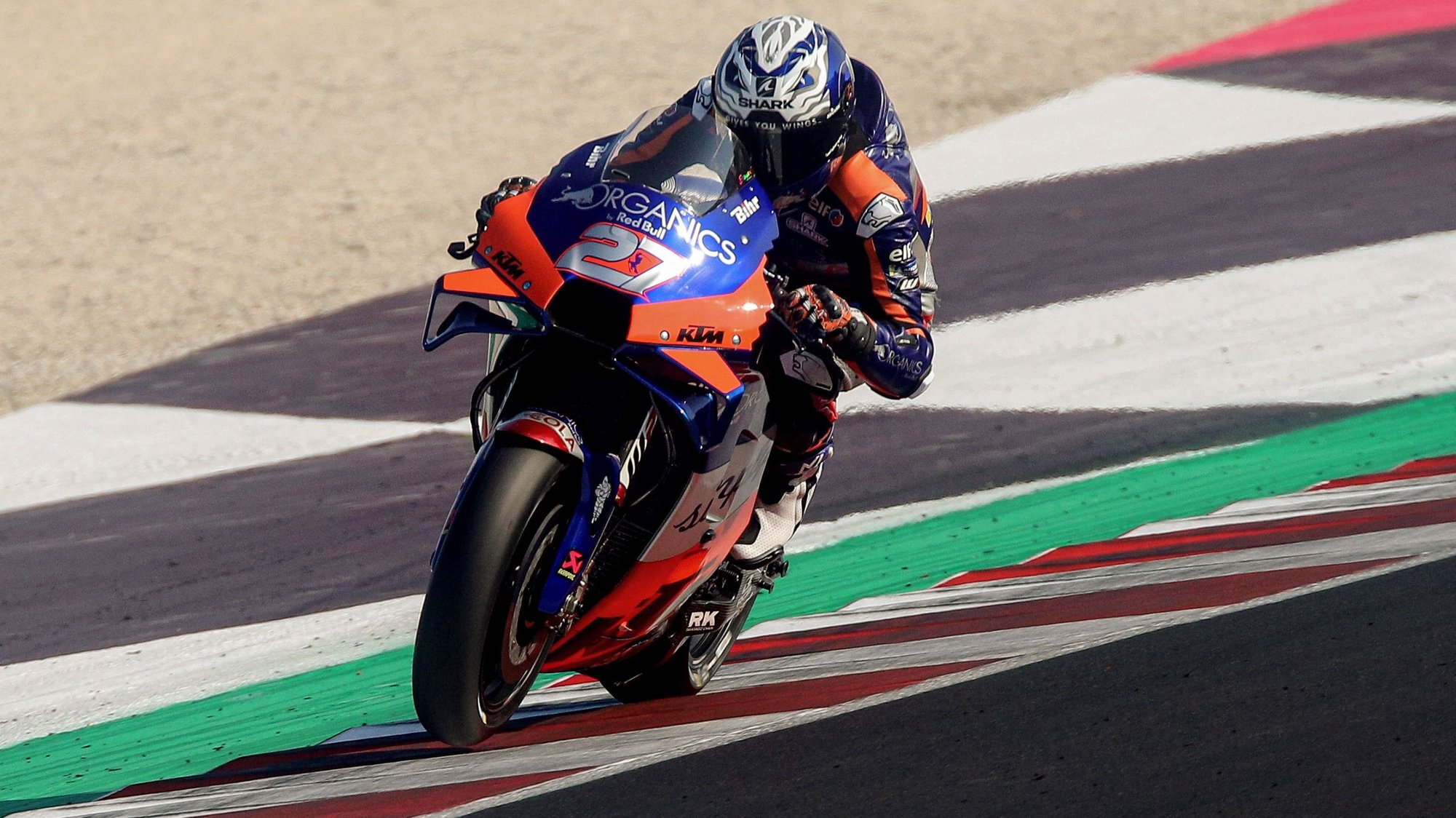 epa08665765 Spanish MotoGP rider Iker Lecuona of Red Bull KTM Tech 3 warms up for the motorcycling Grand Prix of San Marino at the Misano World Circuit Marco Simoncelli, Italy, 13 September 2020.  EPA/PASQUALE BOVE
