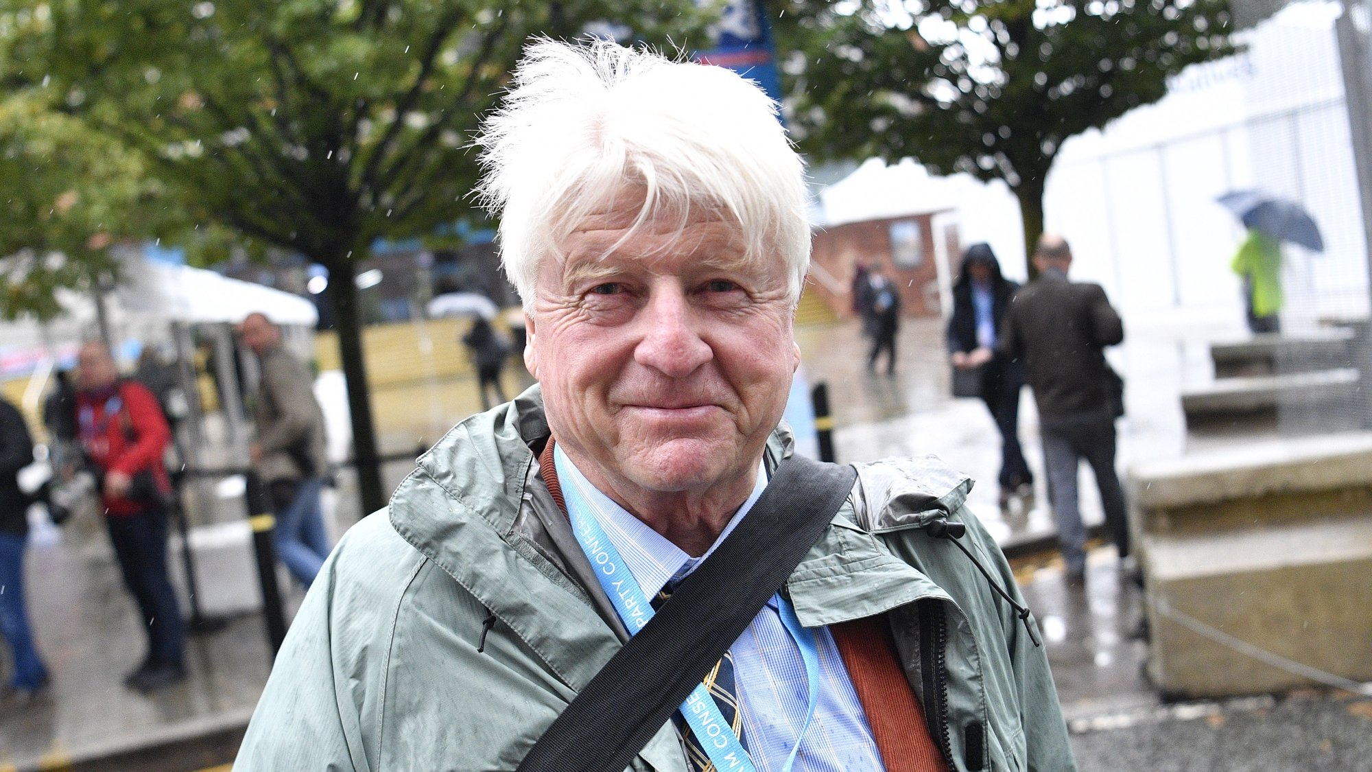 epa07884688 Stanley Johnson, the father of Britain's Prime Minister Boris Johnson attends the Conservative Party Conference in Manchester, Britain, 01 October 2019. The Conservative Party Conference runs from 29 September to 02 October 2019.  EPA/NEIL HALL