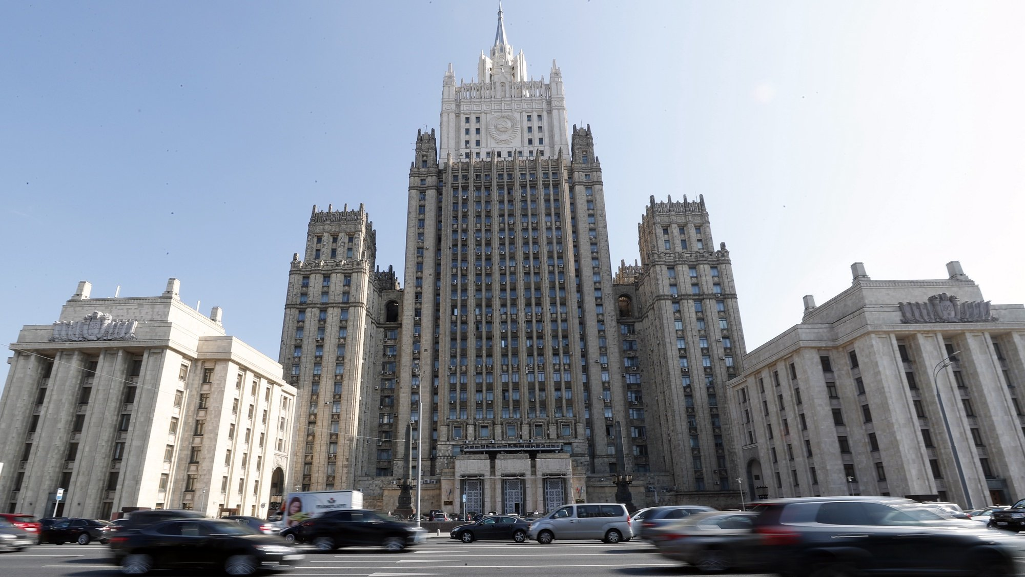 epa07002953 A view of Russian Foreign Ministry building in Moscow, Russia, 07 September 2018. As media reported, the Russian Foreign Ministry spokesperson Maria Zakharova said at a press briefing on 07 September 2018, the United States and the United Kingdom are the principal beneficiaries of the Salisbury incident. The former Russian spy Sergei Skripal aged 66 and his daughter Yulia, aged 33, were found suffering from extreme exposure to a rare nerve agent in Salisbury southern England, on 04 March 2018.  EPA/MAXIM SHIPENKOV